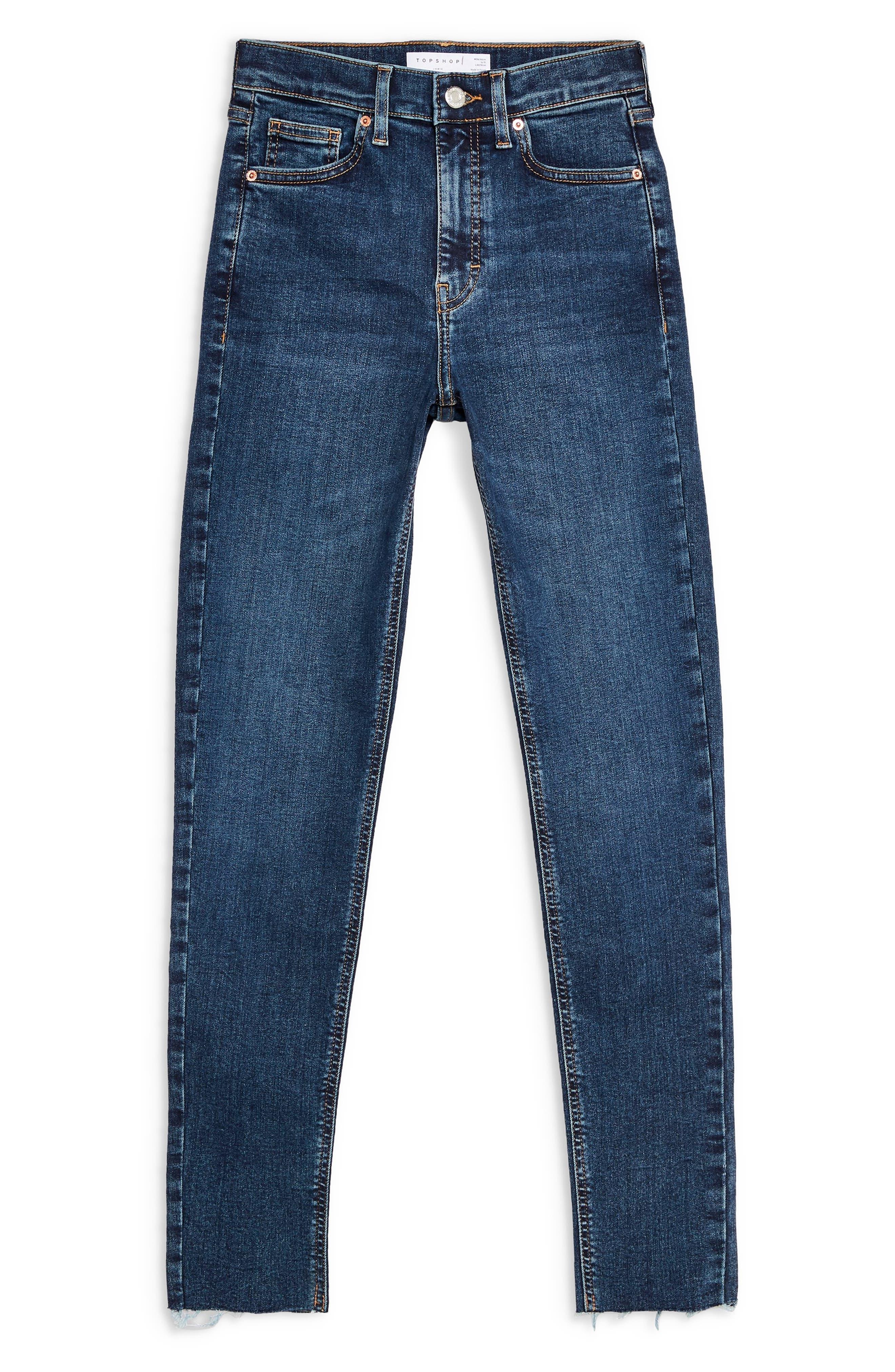 TOPSHOP, Jamie Vintage Jeans, Alternate thumbnail 3, color, INDIGO