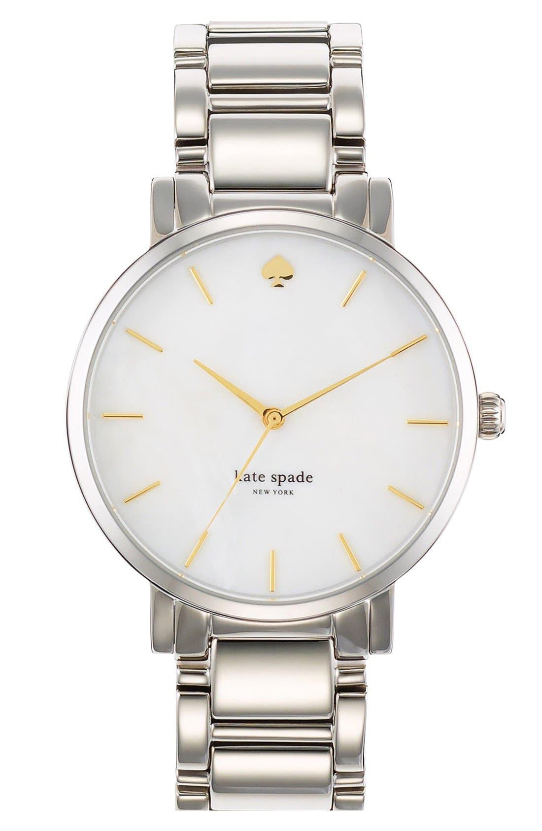 KATE SPADE NEW YORK 'gramercy grand' bracelet watch, 38mm, Main, color, 040
