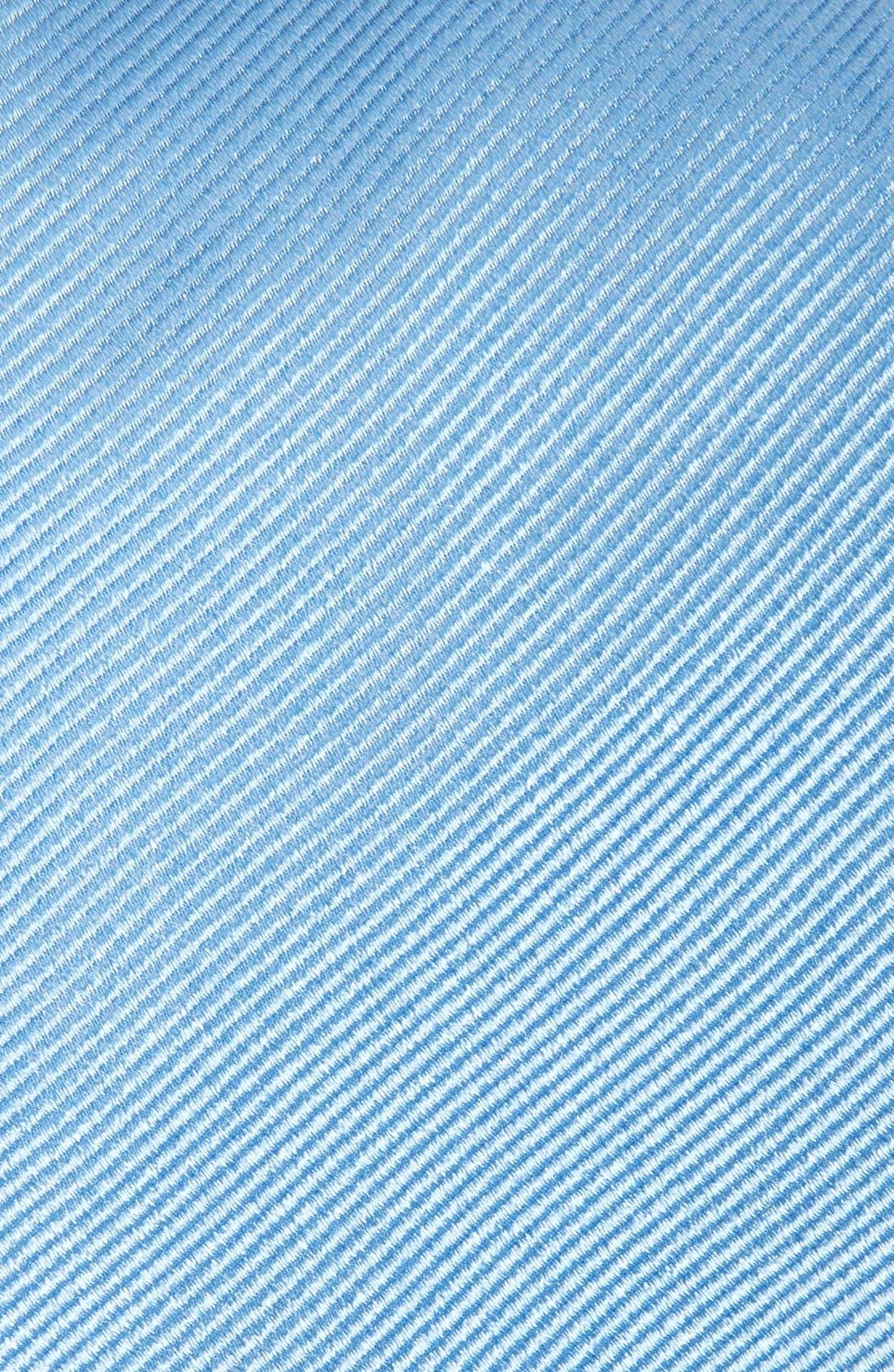 GITMAN, Solid Silk Tie, Alternate thumbnail 2, color, MEDIUM BLUE