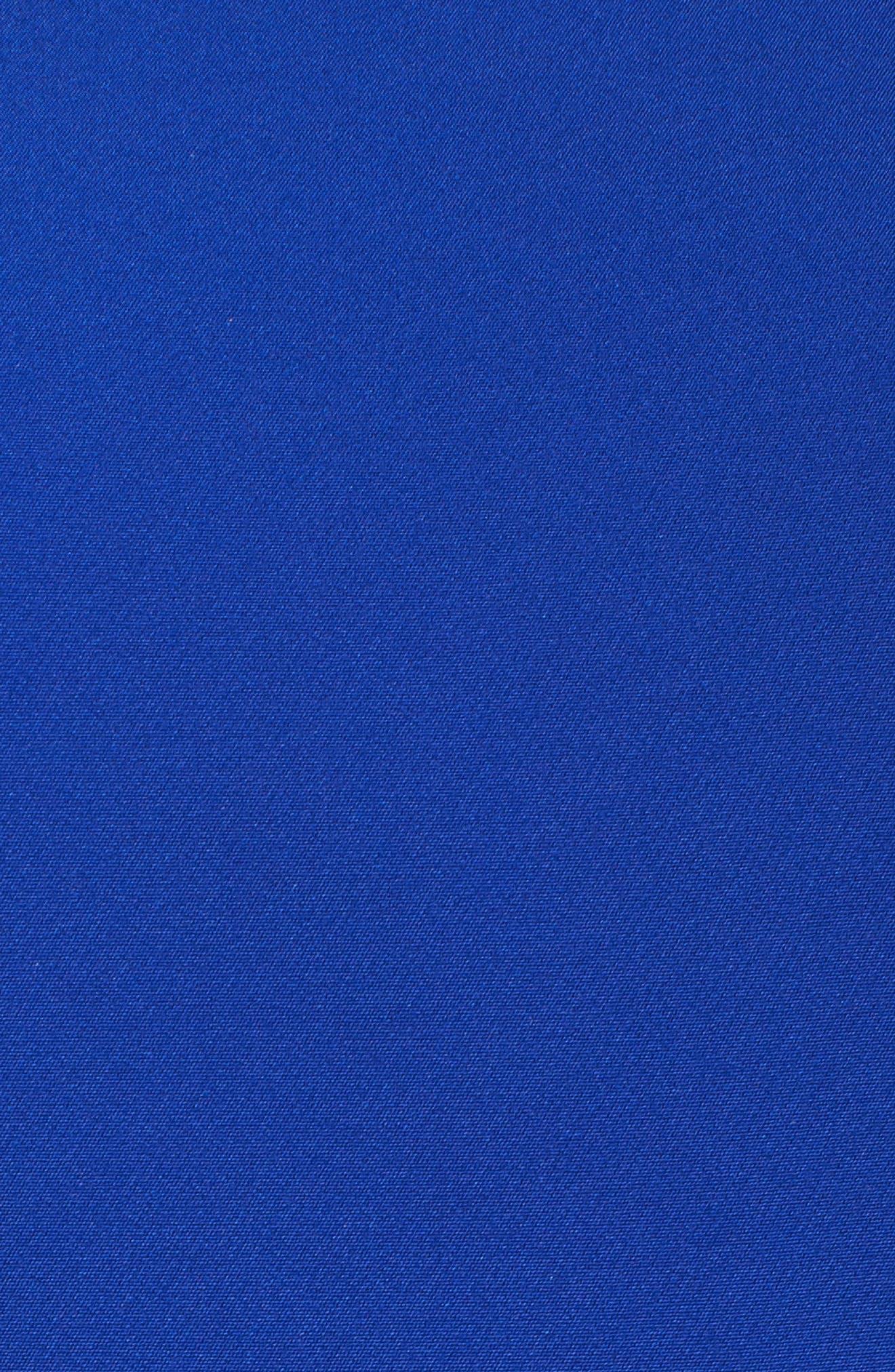 IEENA FOR MAC DUGGAL, Mac Duggal Embellished Ruffle Fit & Flare Dress, Alternate thumbnail 6, color, ROYAL