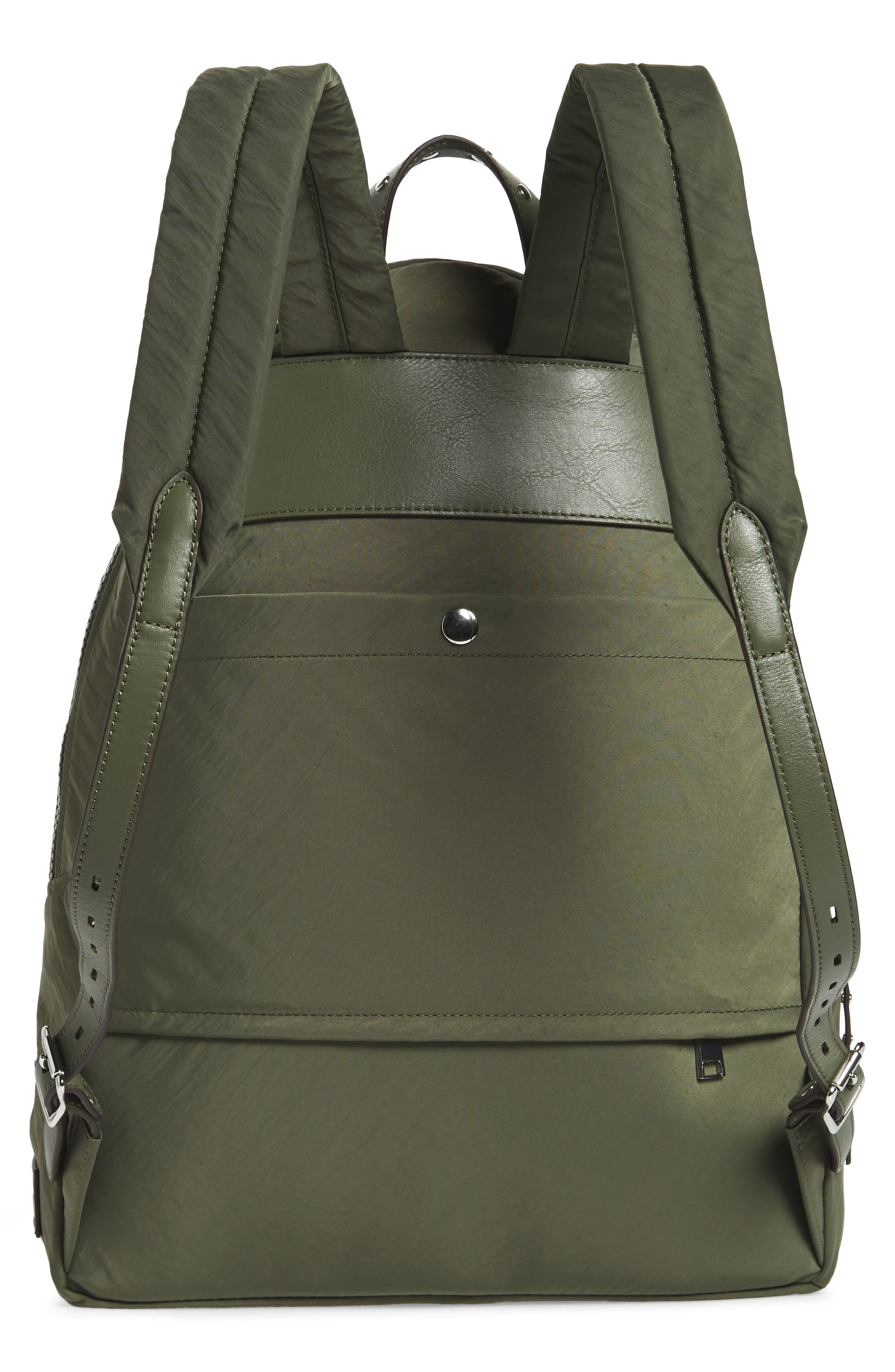 REBECCA MINKOFF, Always On MAB Backpack, Alternate thumbnail 3, color, OLIVE