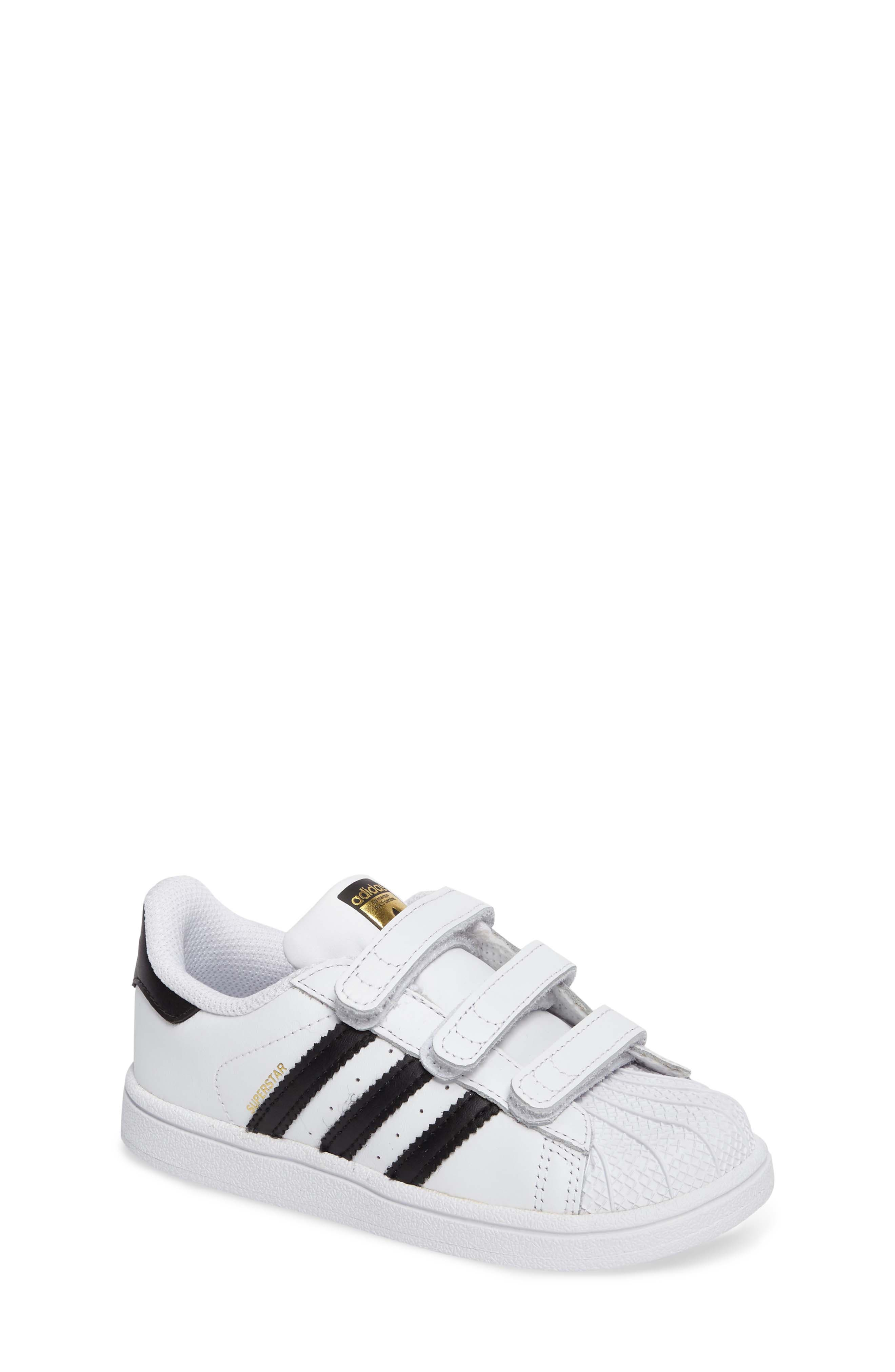 ADIDAS, Superstar Sneaker, Main thumbnail 1, color, WHITE/ BLACK/ WHITE