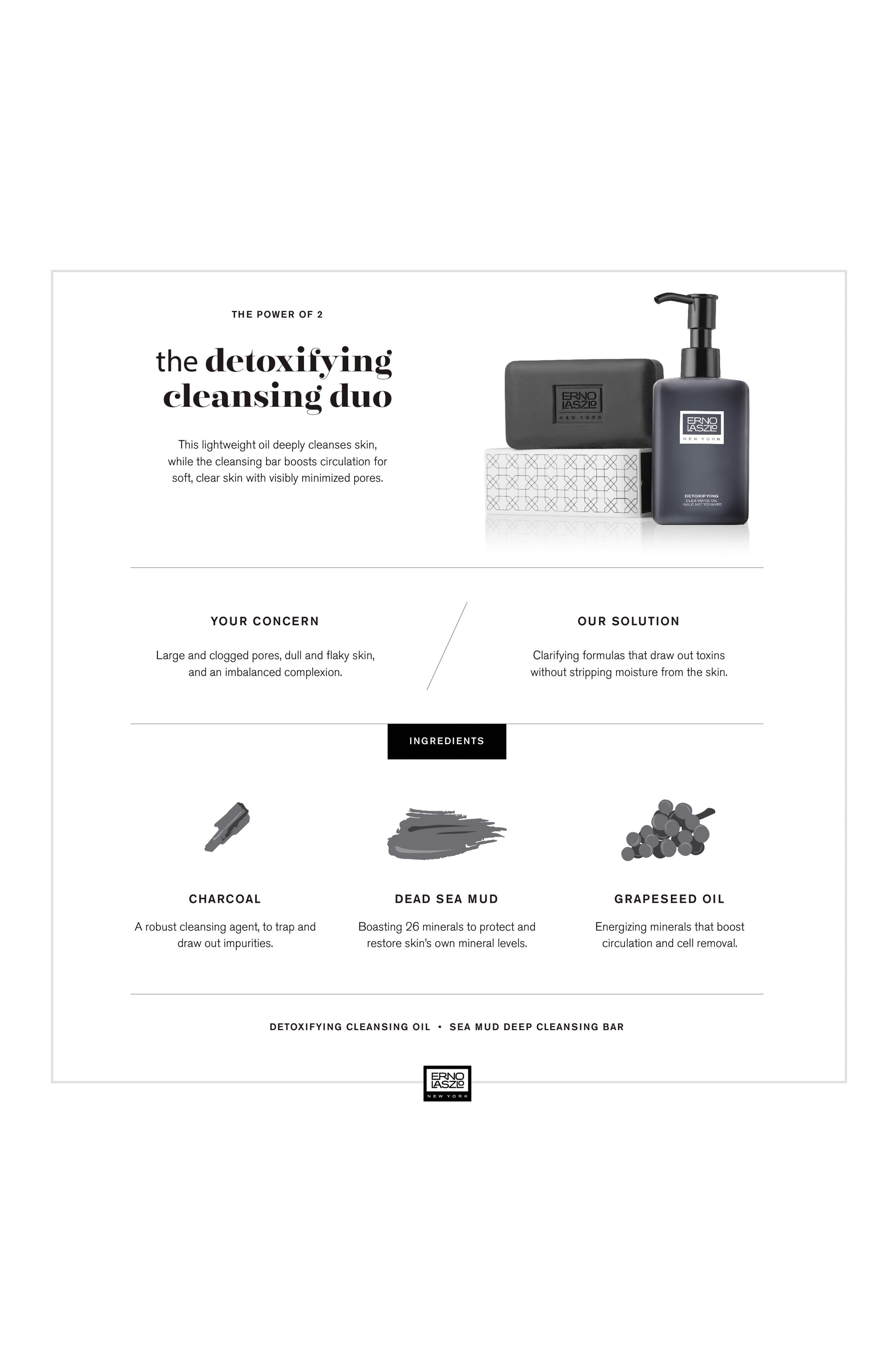 ERNO LASZLO, Detoxifying Double Cleanse Travel Set, Alternate thumbnail 3, color, NO COLOR