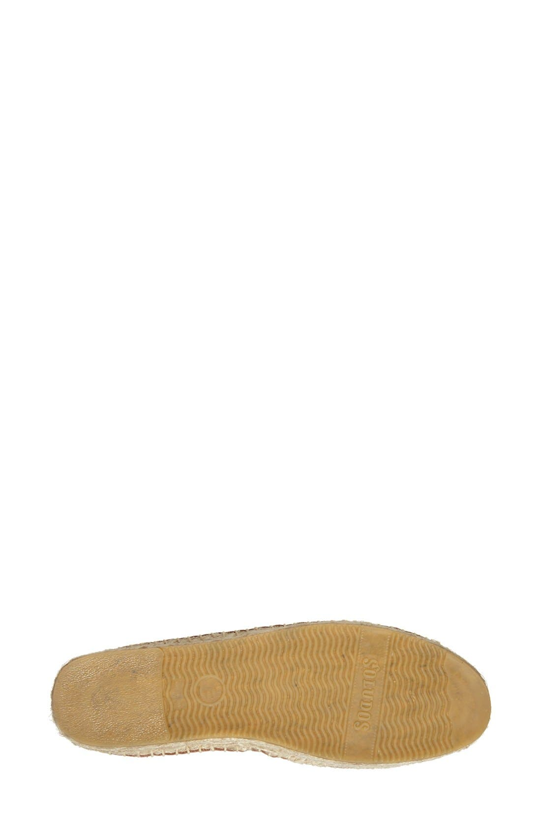 SOLUDOS, 'Smoking' Espadrille Platform Shoe, Alternate thumbnail 2, color, TAN LEATHER