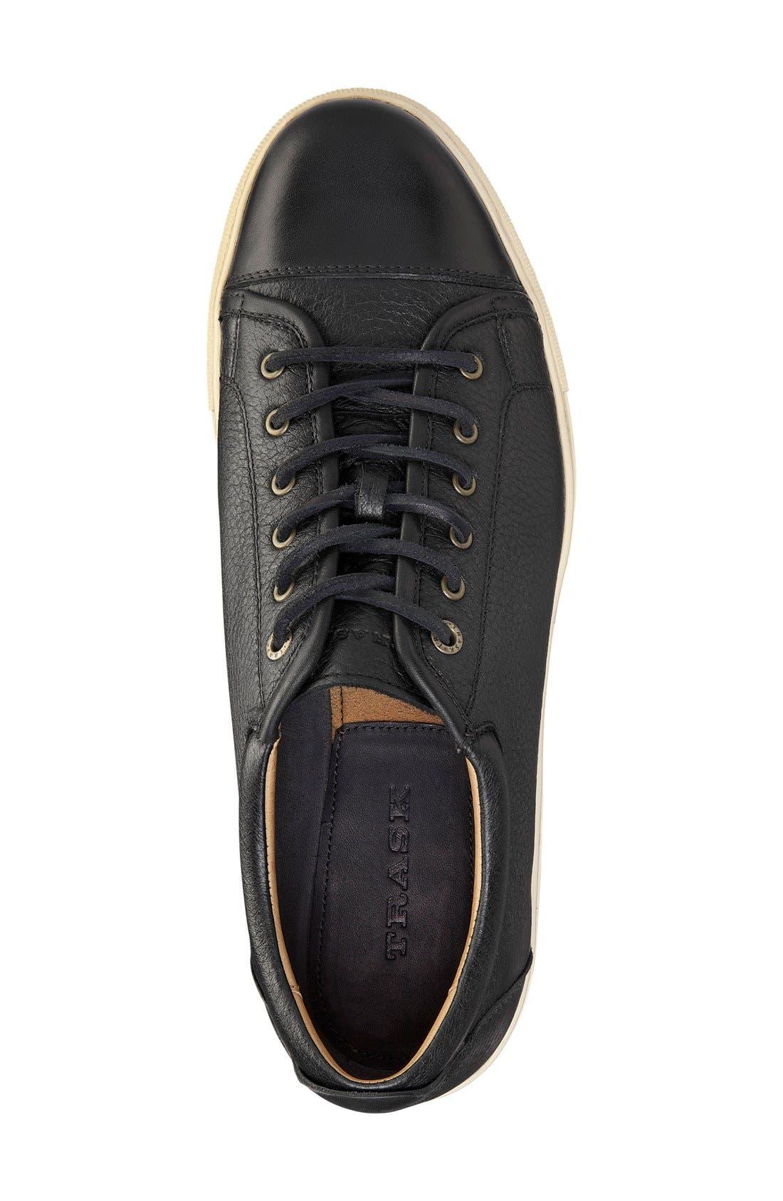 TRASK, 'Beck' Sneaker, Alternate thumbnail 4, color, BLACK NORWEGIAN ELK