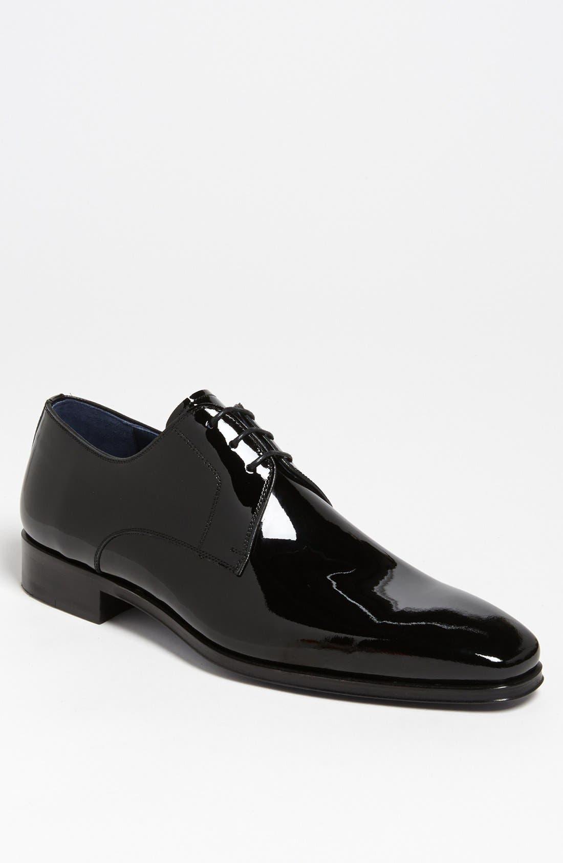 MAGNANNI, 'Dante' Plain Toe Derby, Main thumbnail 1, color, BLACK