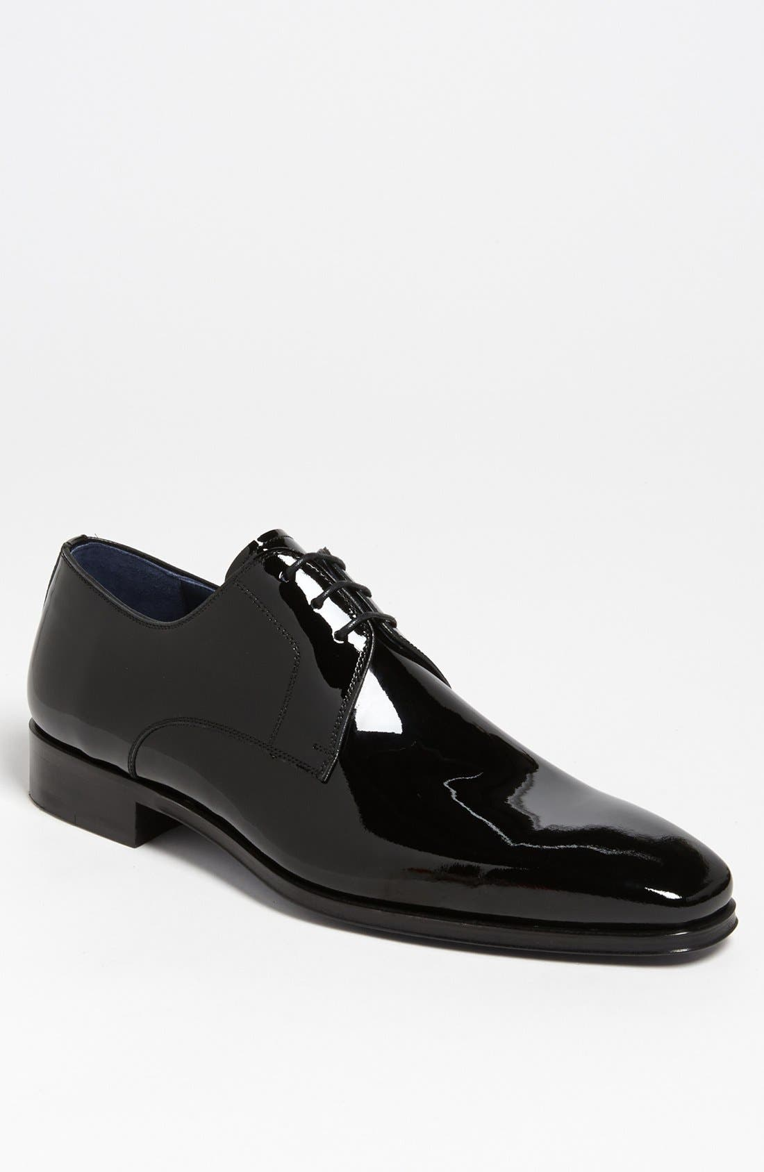 MAGNANNI 'Dante' Plain Toe Derby, Main, color, BLACK