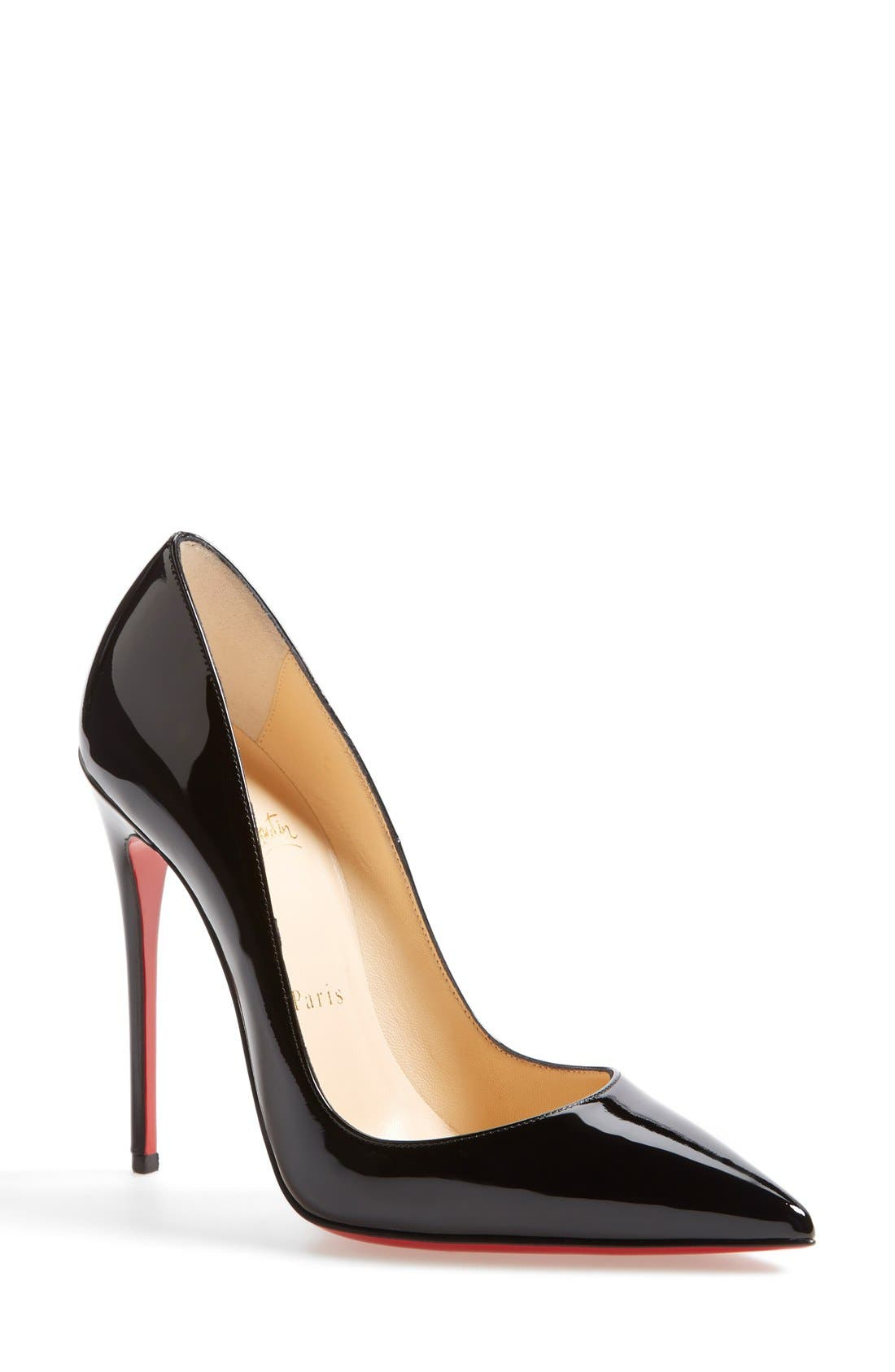 CHRISTIAN LOUBOUTIN, So Kate Pointy Toe Pump, Main thumbnail 1, color, BLACK