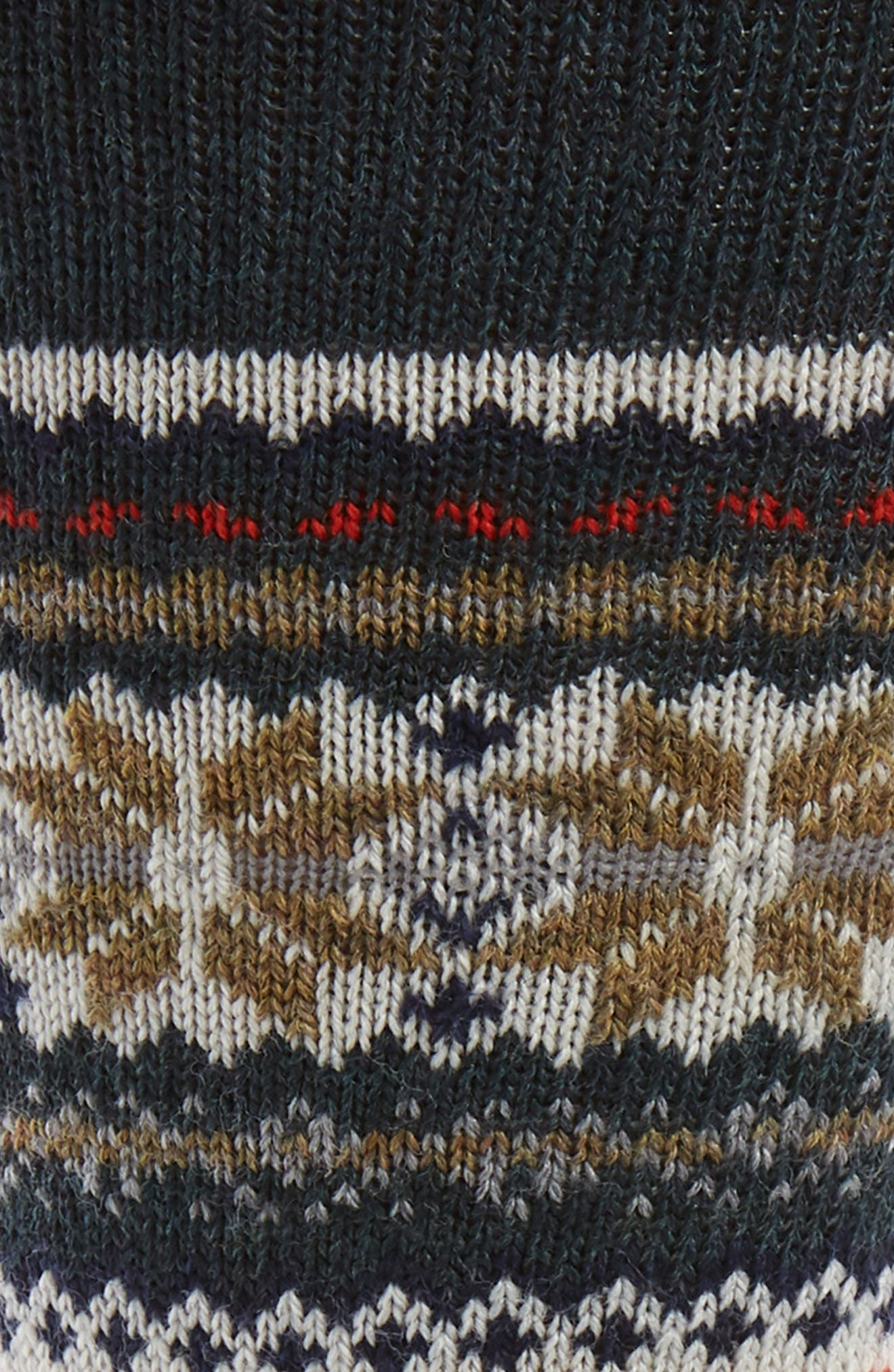 SMARTWOOL, x CHUP Snowflake Socks, Alternate thumbnail 2, color, 050