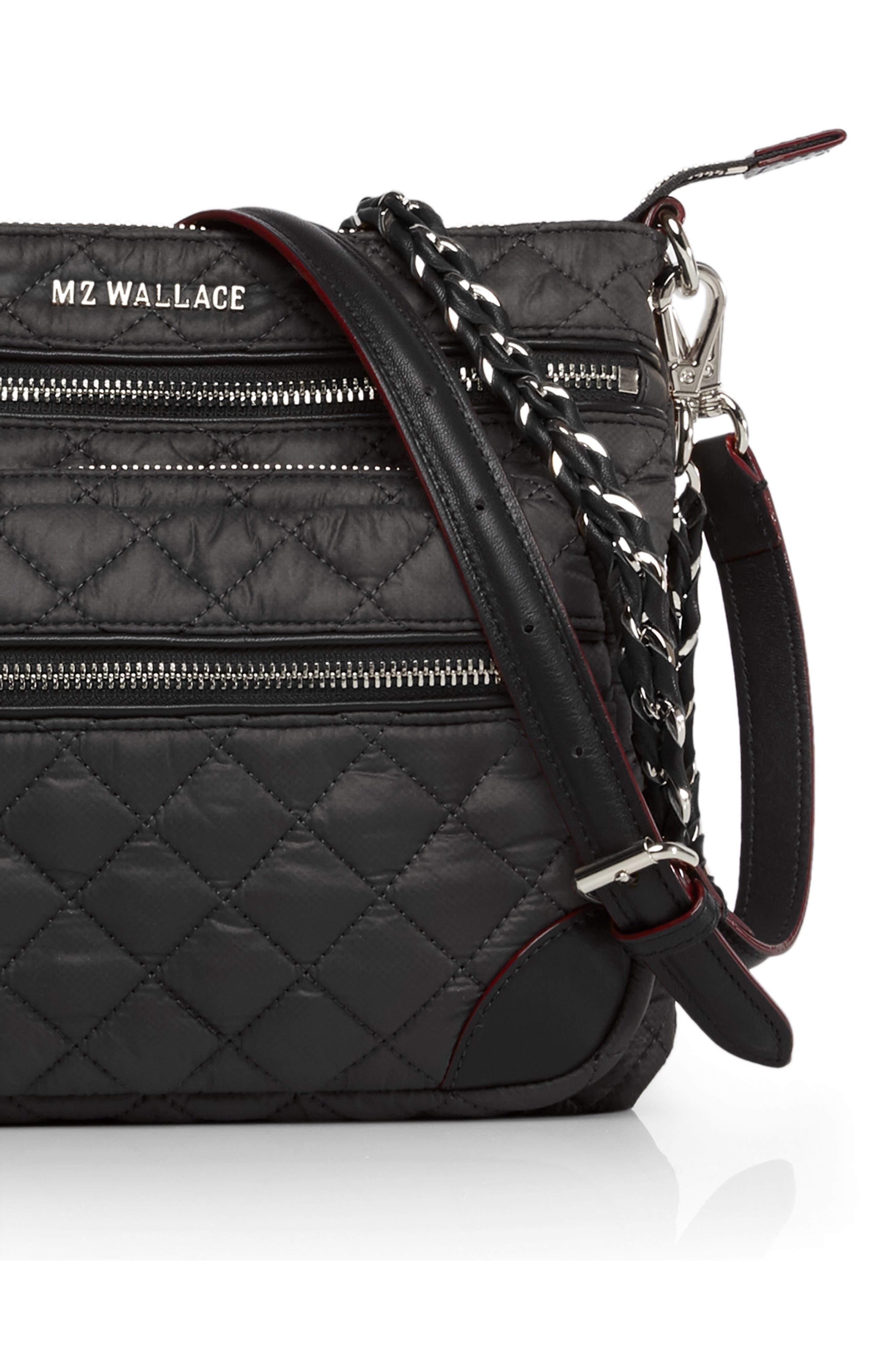 MZ WALLACE, M Z Wallace Downtown Crosby Crossbody Bag, Alternate thumbnail 6, color, BLACK