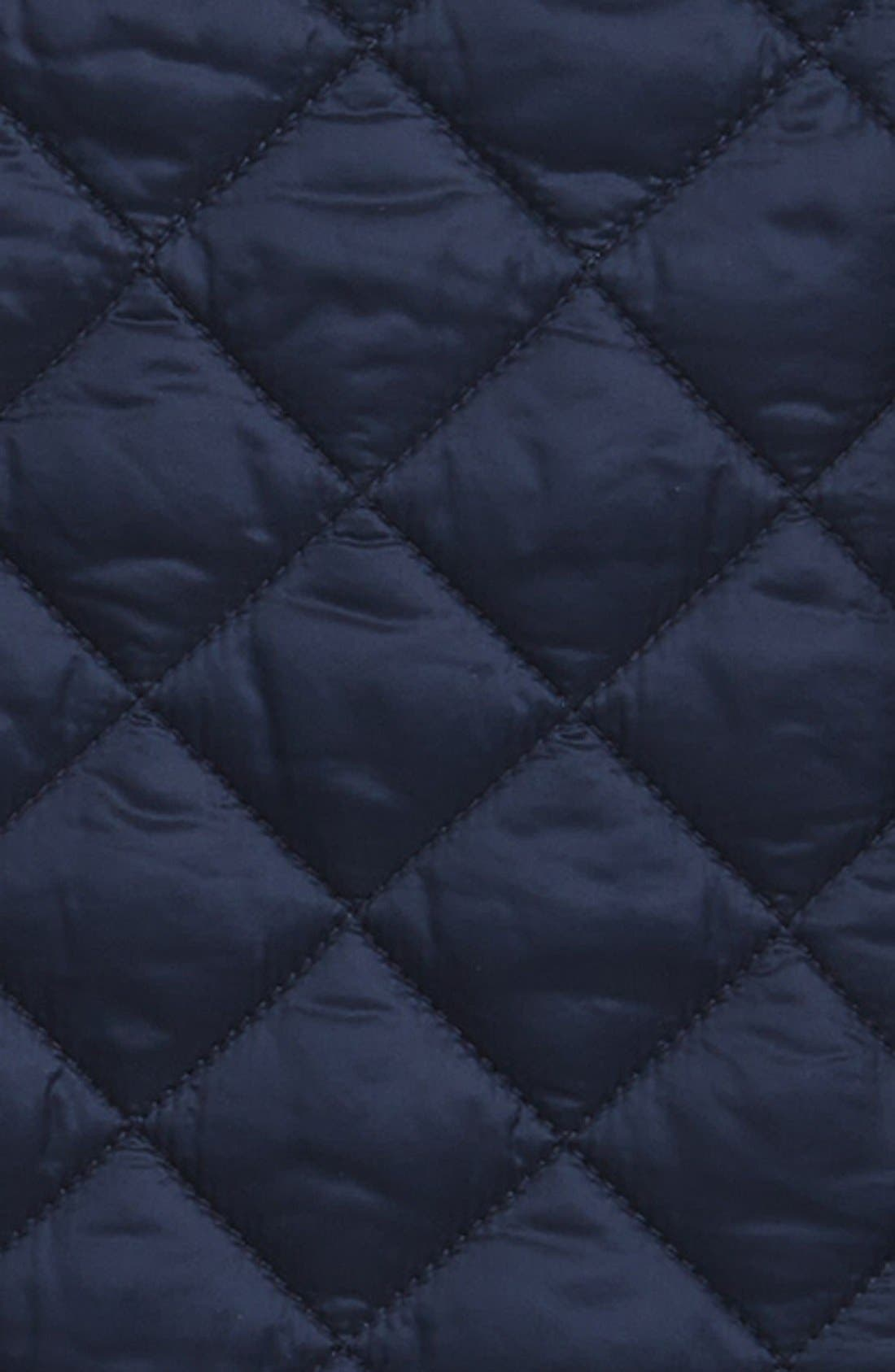 BURBERRY, 'Tiggsmoore' Diamond Quilted Jacket, Alternate thumbnail 3, color, 409