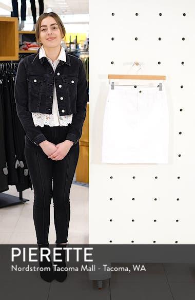 Frayed Hem Denim Pencil Skirt, sales video thumbnail