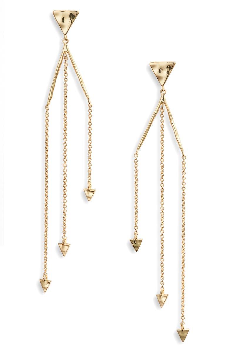 Gorjana Accessories Luca Triangle Drop Earrings