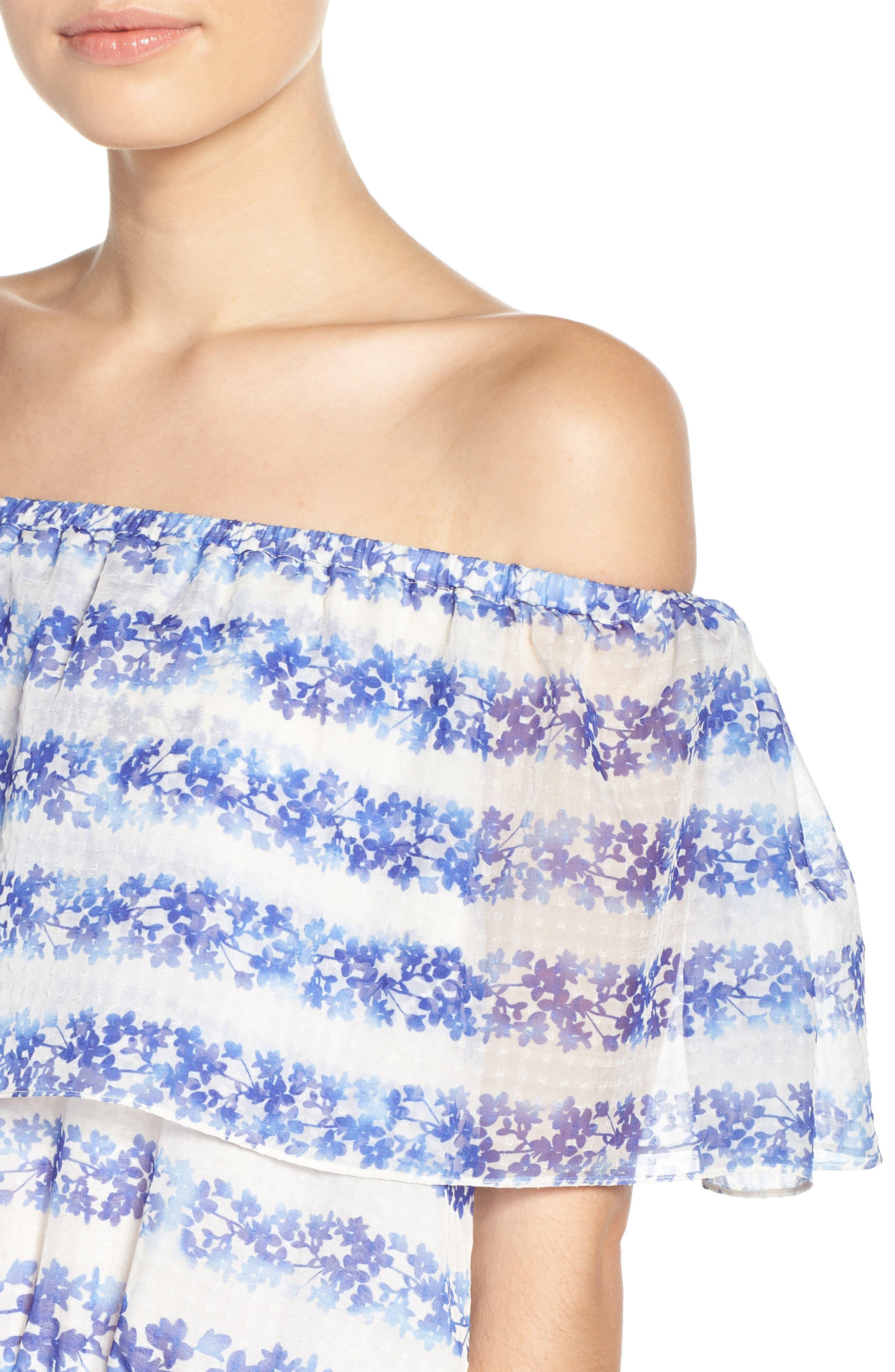 ELIZA J, Blouson Maxi Dress, Alternate thumbnail 4, color, 442