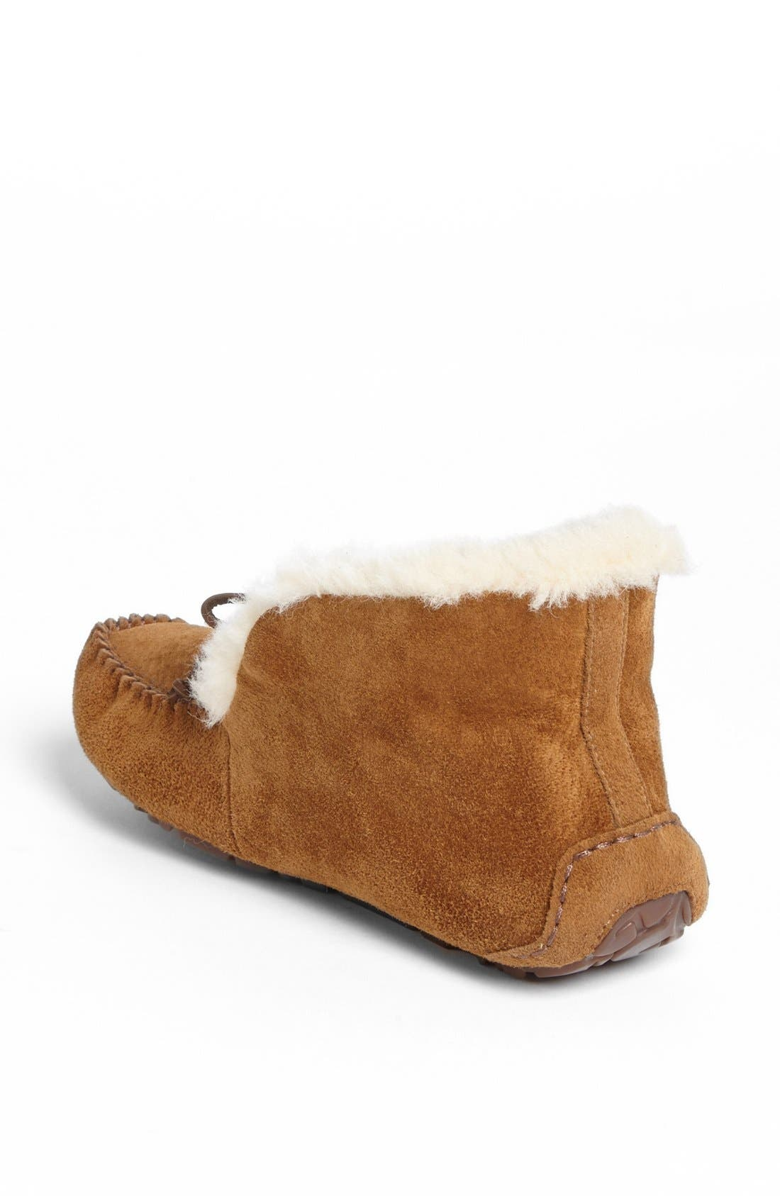 UGG<SUP>®</SUP>, UGGpure<sup>™</sup> Alena Suede Slipper Bootie, Alternate thumbnail 5, color, CHESTNUT