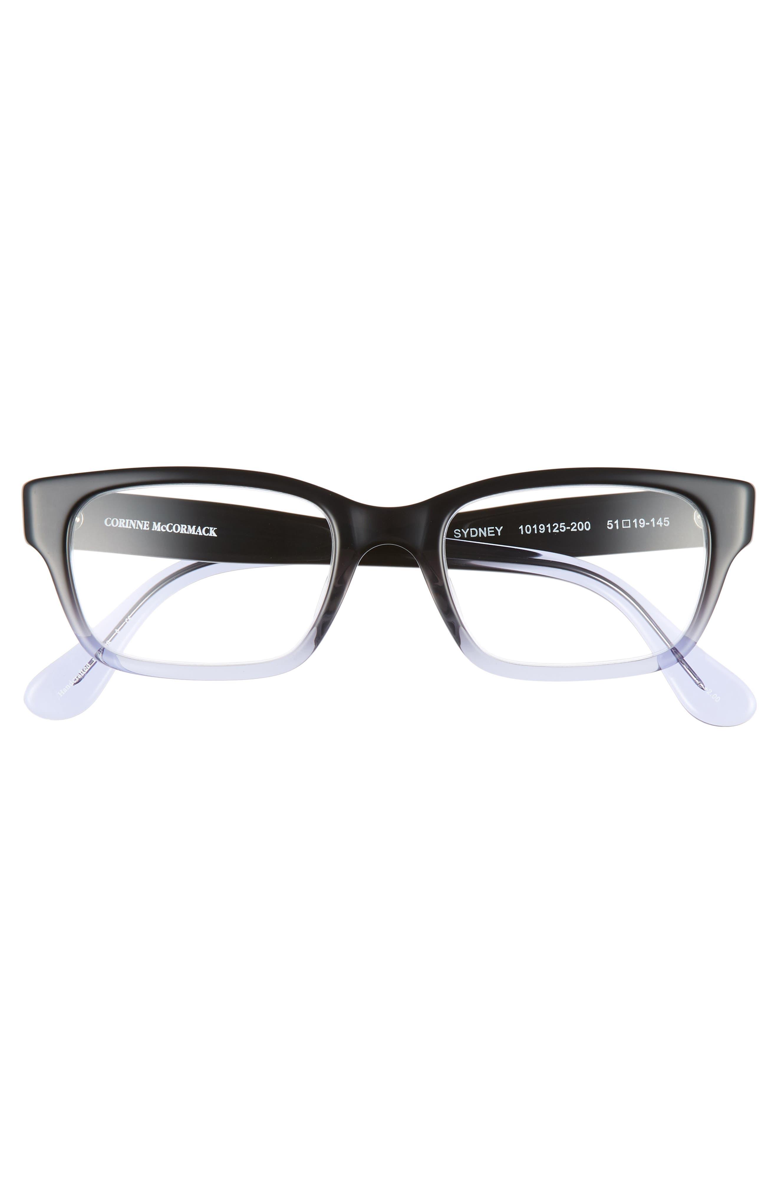 CORINNE MCCORMACK, 'Sydney' 51mm Reading Glasses, Alternate thumbnail 3, color, 006