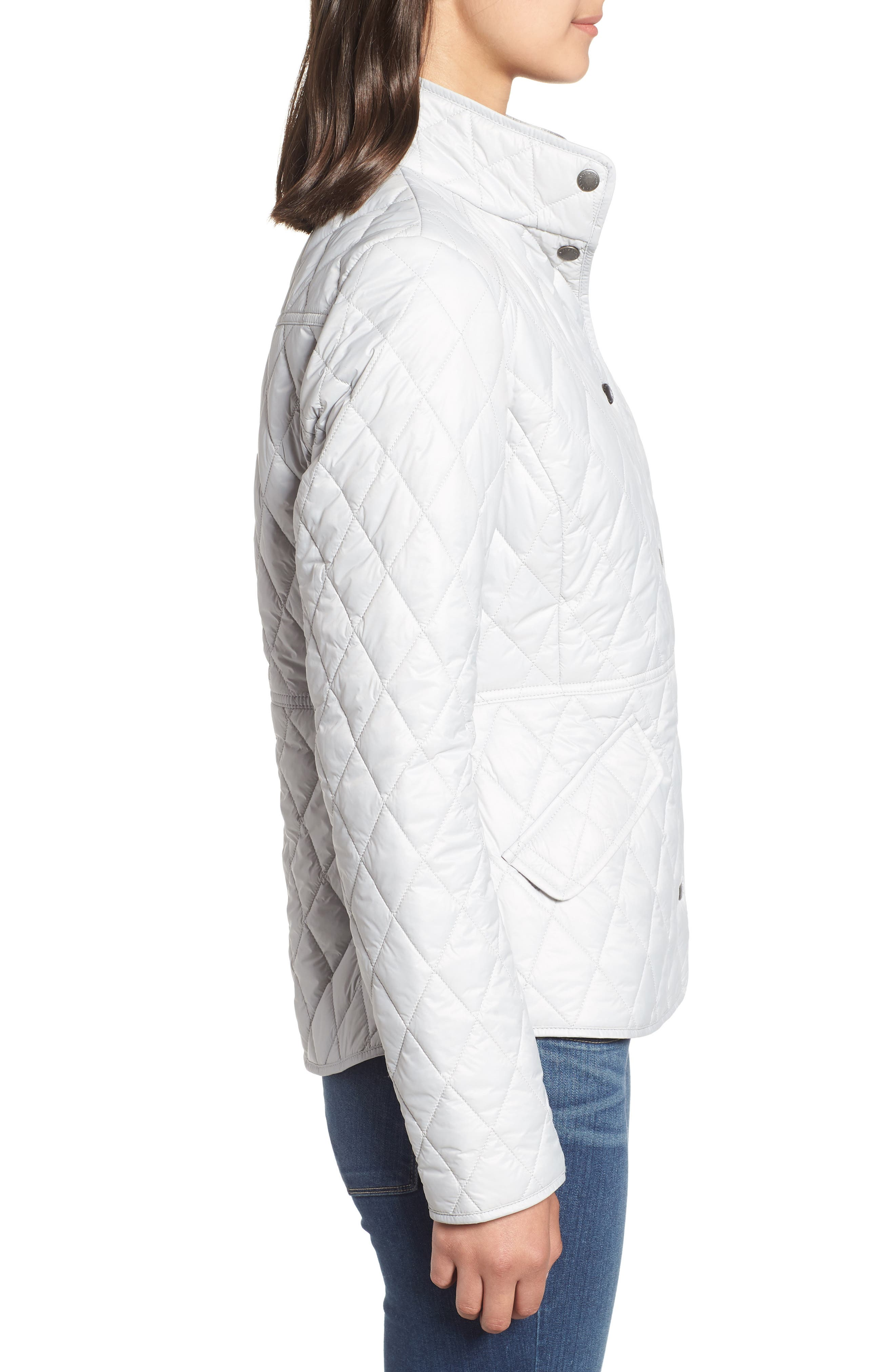 BARBOUR, Annis Quilted Jacket, Alternate thumbnail 4, color, 100