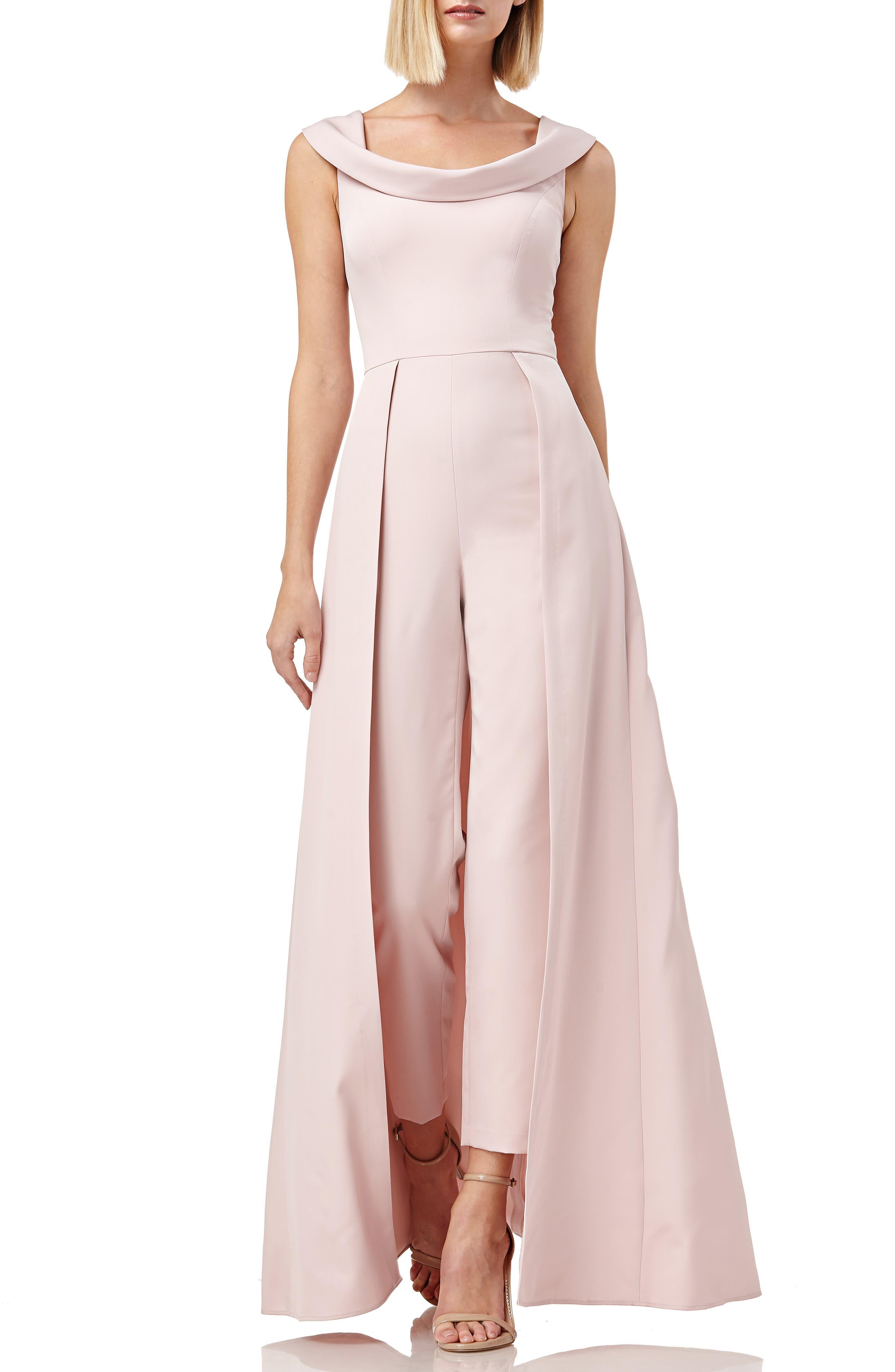 KAY UNGER Jumpsuit Gown, Main, color, BLUSH
