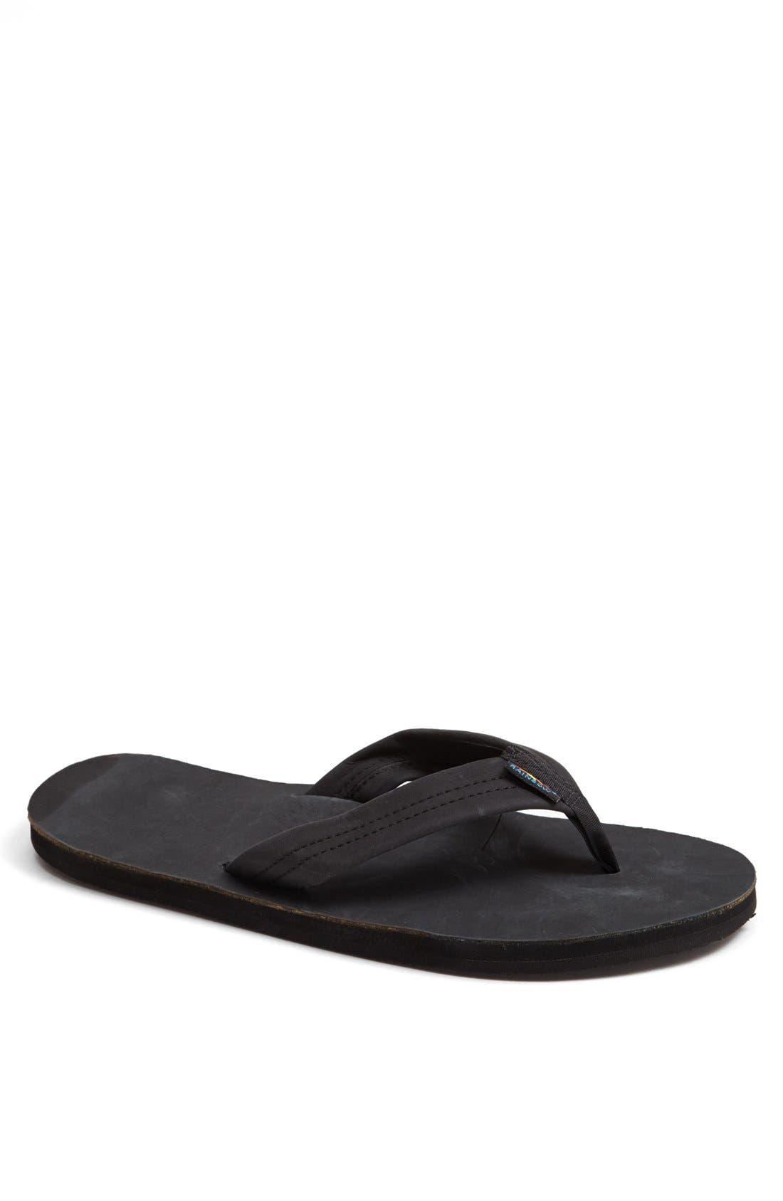 RAINBOW<SUP>®</SUP> Rainbow '301Alts' Sandal, Main, color, BLACK