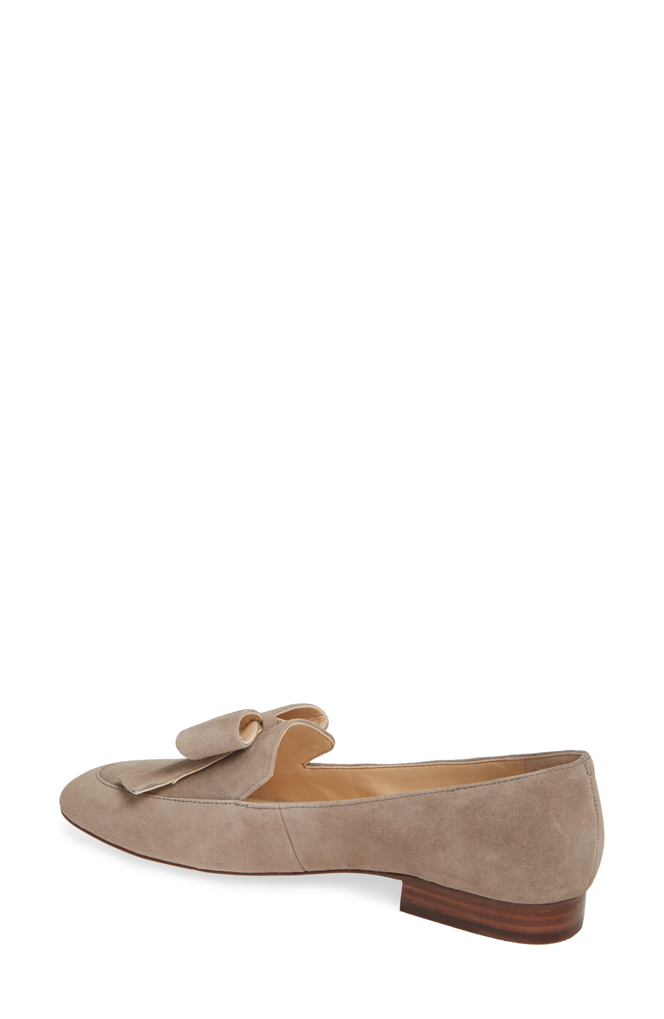 SOLE SOCIETY, Tannse Bow Loafer, Alternate thumbnail 2, color, MUSHROOM SUEDE