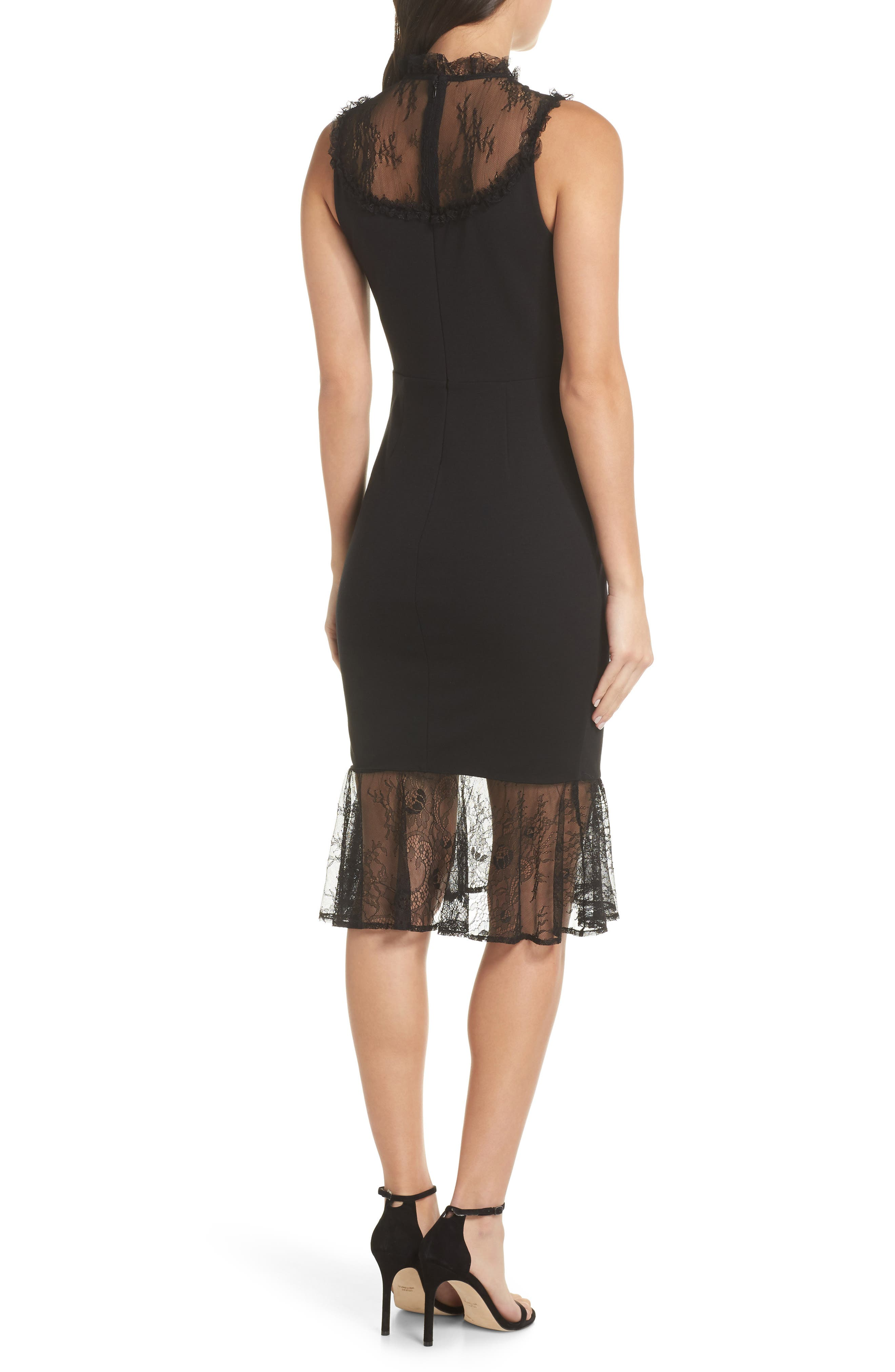 ALI & JAY, Two to Tango Lace Detail Dress, Alternate thumbnail 2, color, 001