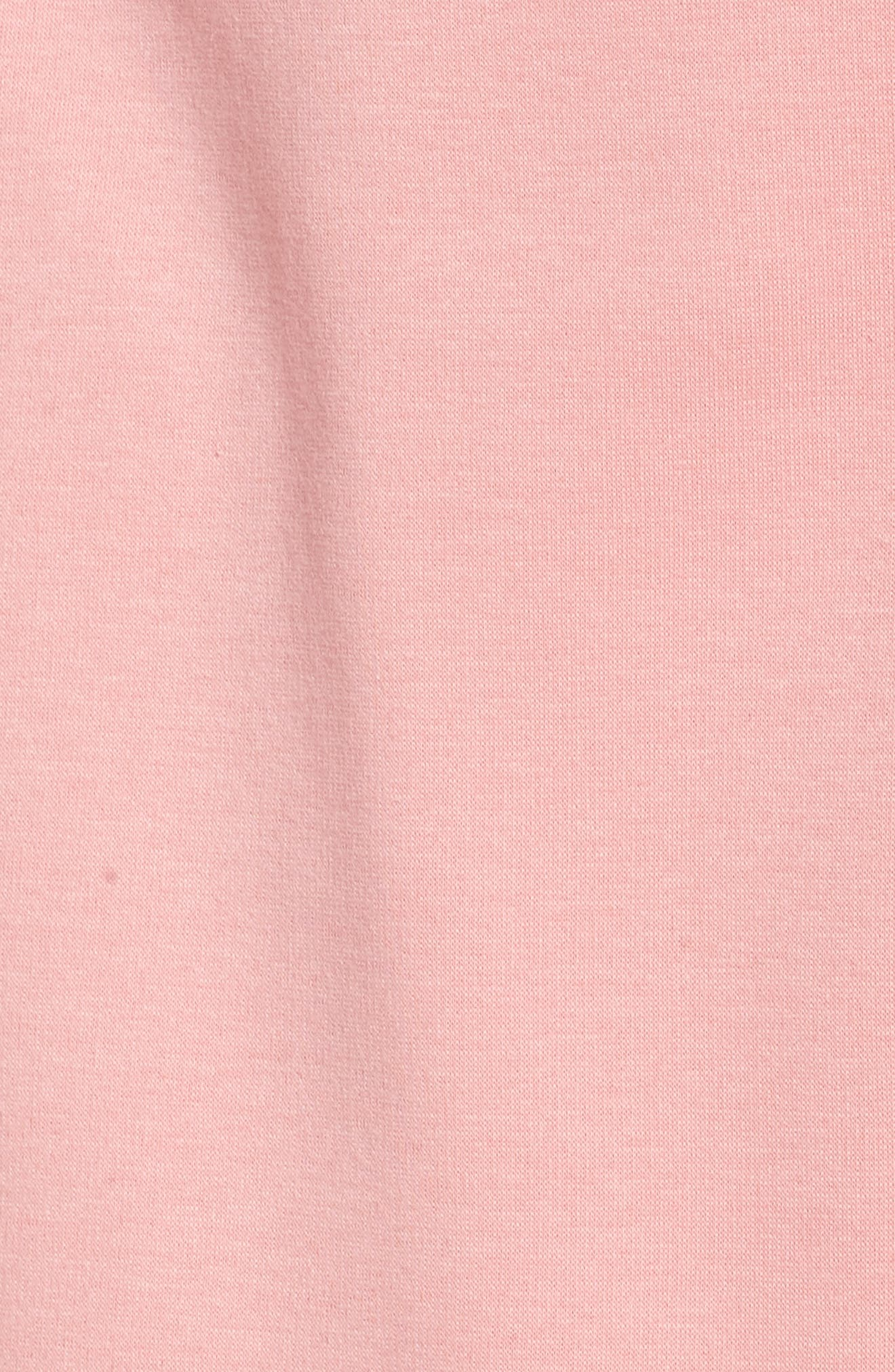 UGG<SUP>®</SUP>, Blanche II Short Robe, Alternate thumbnail 5, color, PINK DAWN