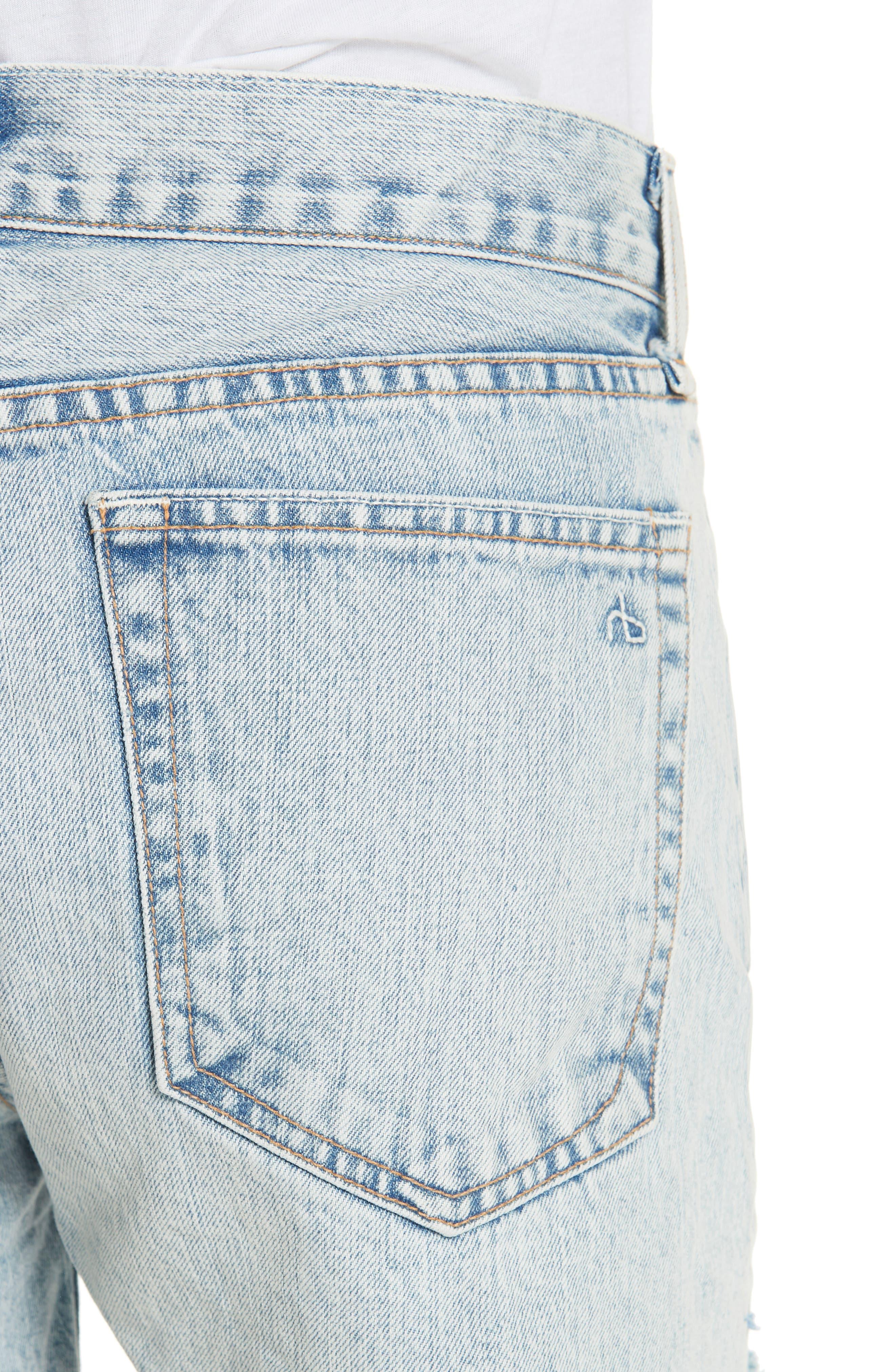RAG & BONE, JEAN Cutoff Boyfriend Shorts, Alternate thumbnail 5, color, 420