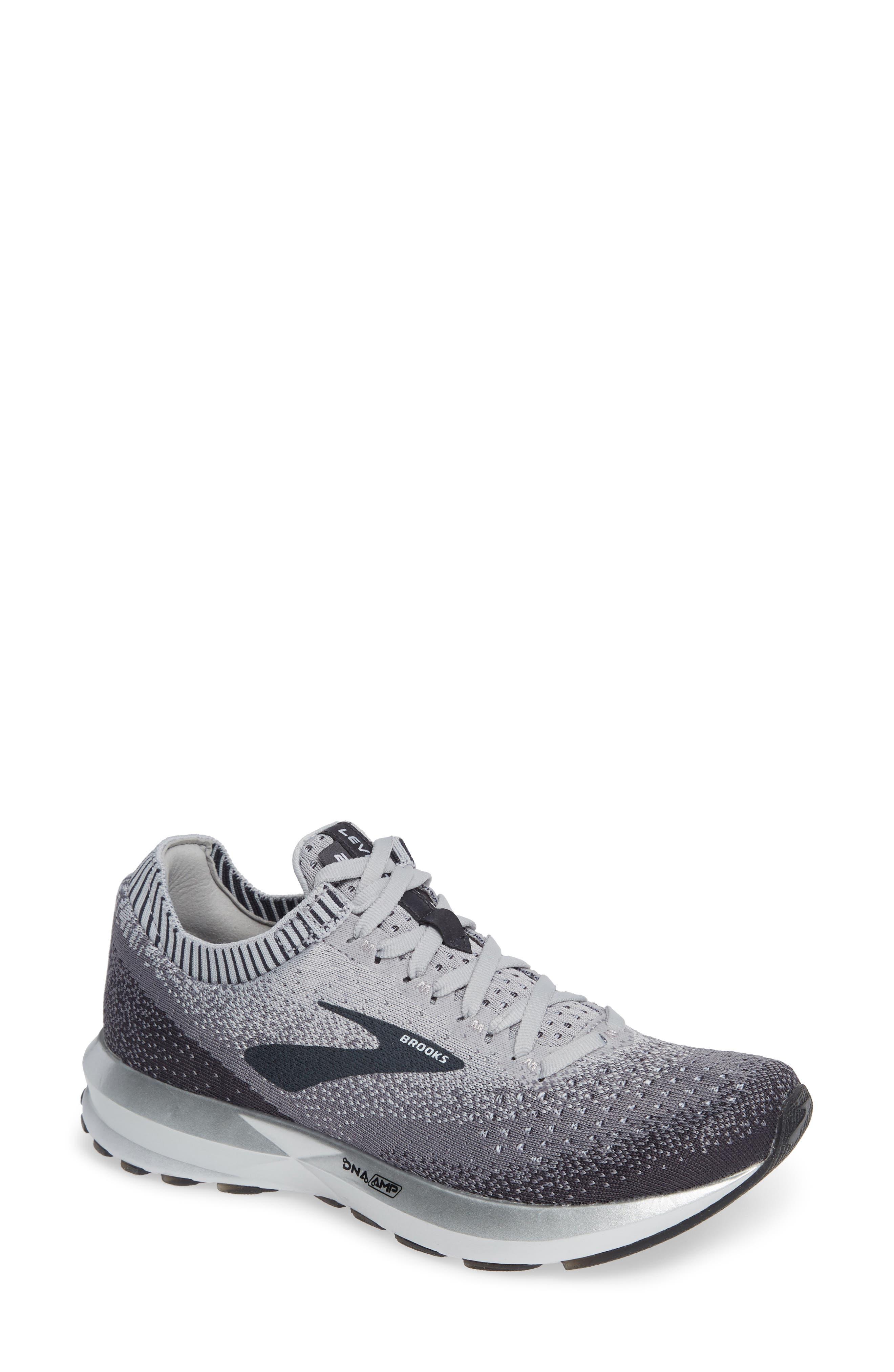 BROOKS Levitate 2 Running Shoe, Main, color, GREY/ EBONY/ WHITE