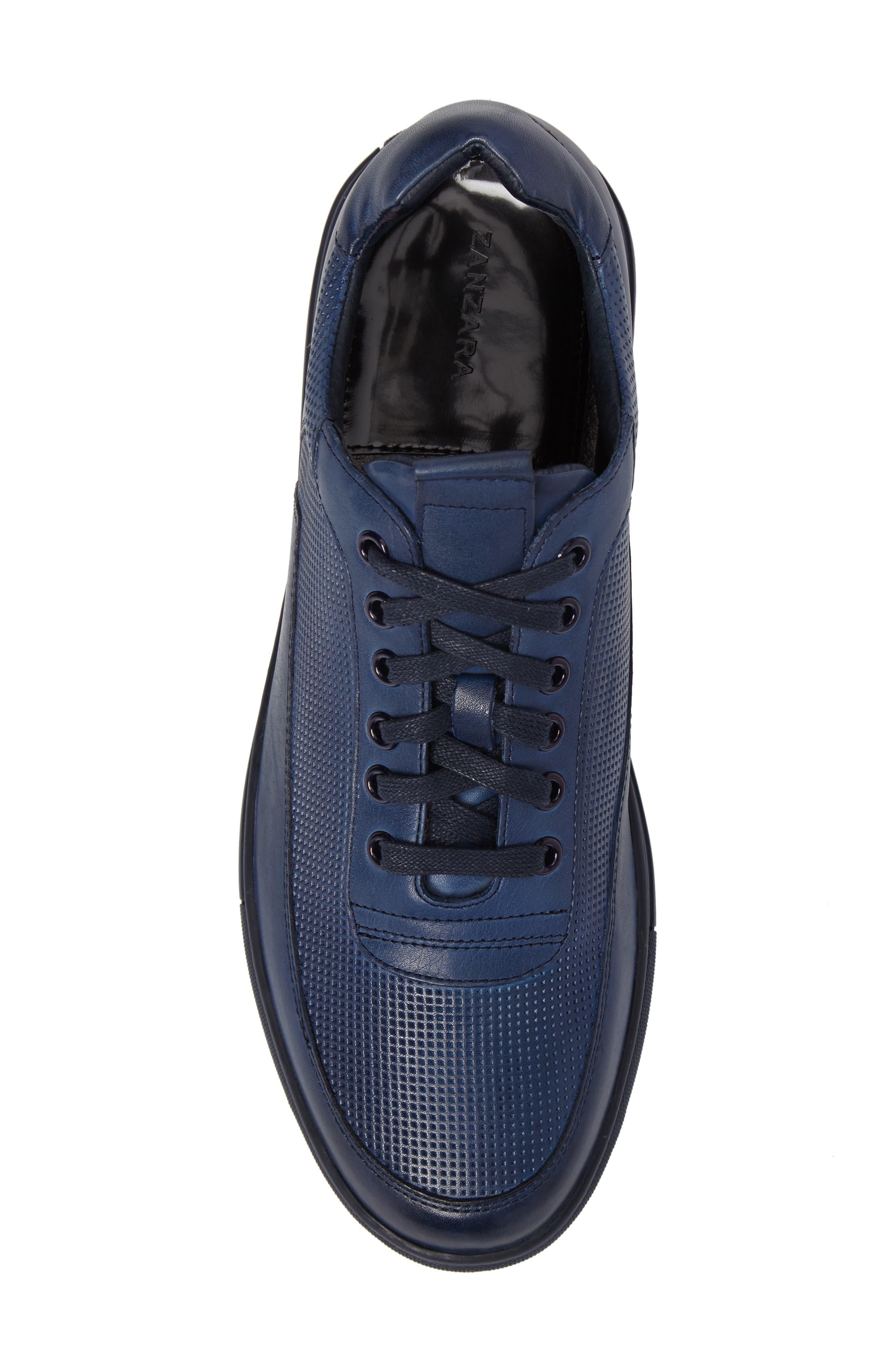 ZANZARA, Harmony Sneaker, Alternate thumbnail 5, color, BLUE LEATHER