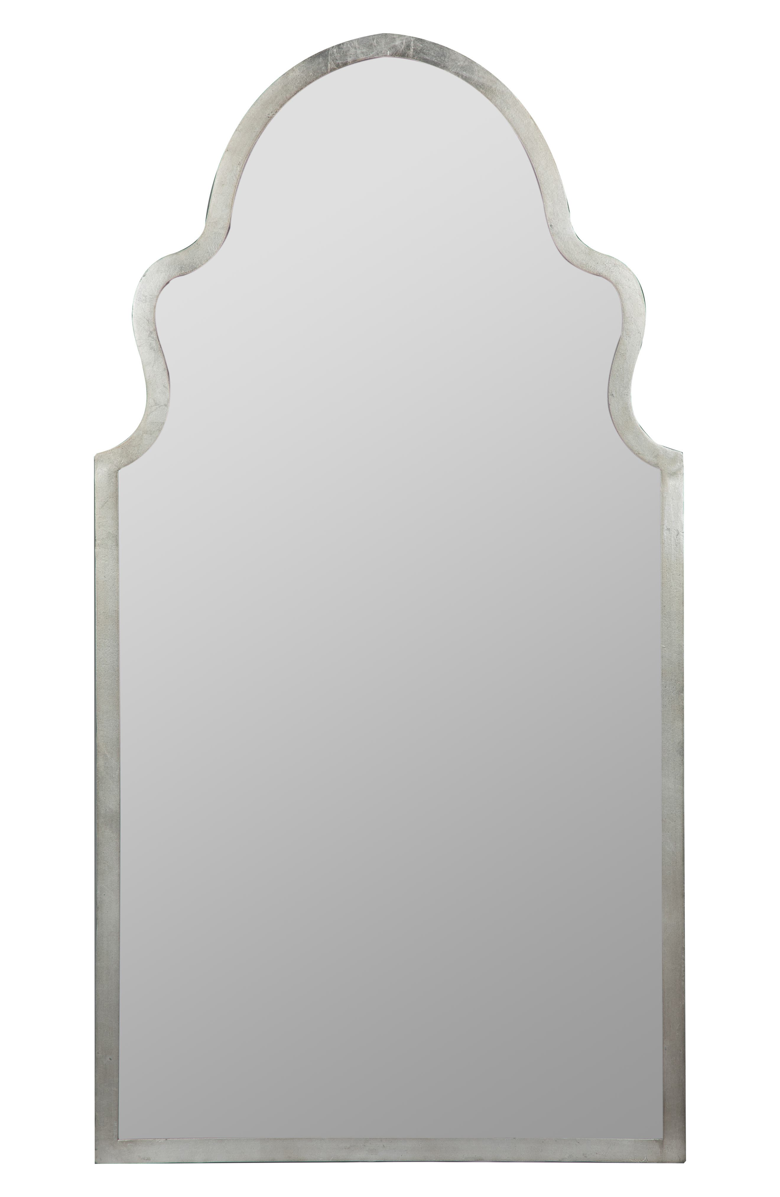 GEORGE AND CO, Scalloped Wall Mirror, Main thumbnail 1, color, METALLIC SILVER