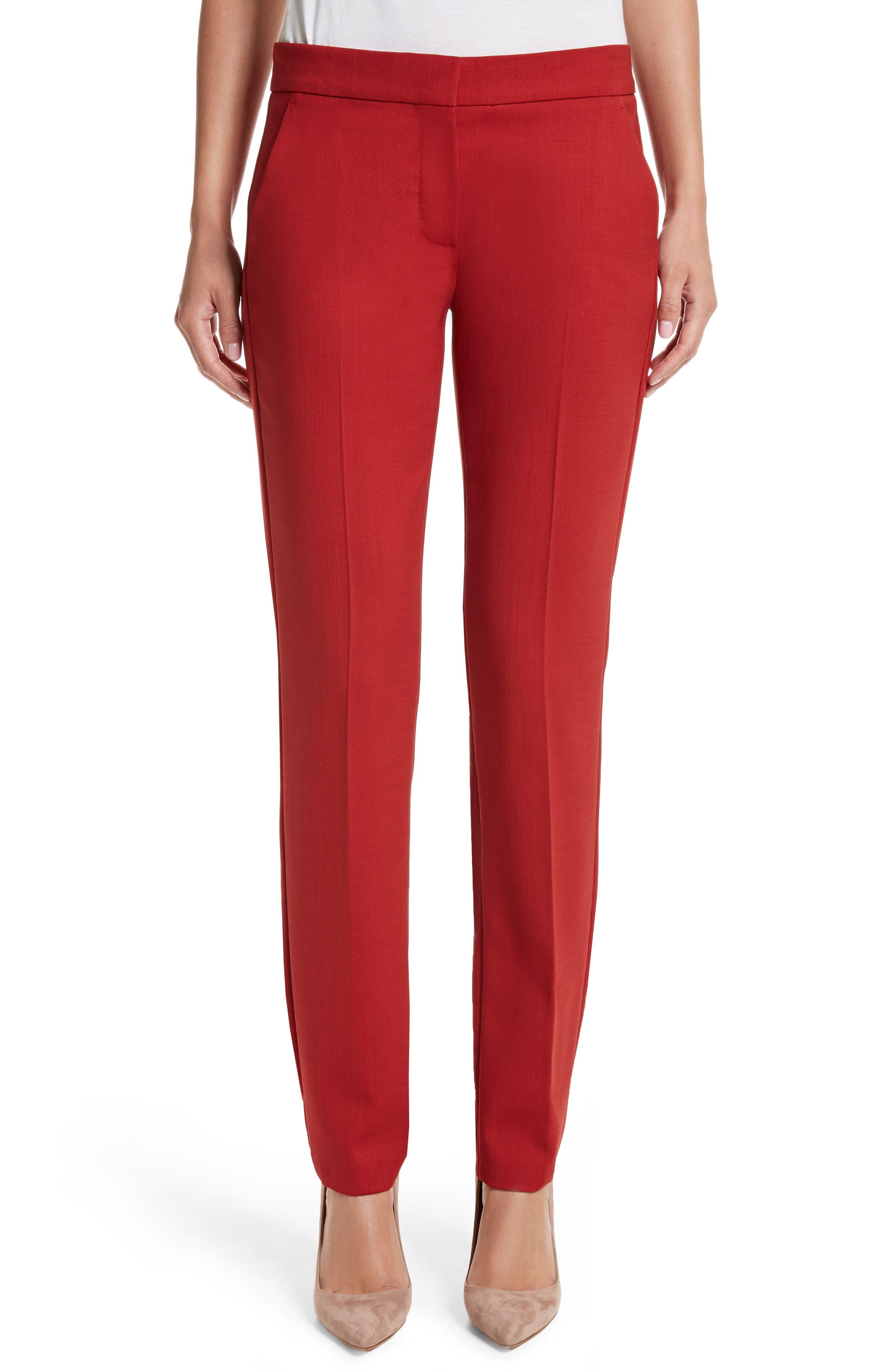 MAX MARA Oscuro Stretch Wool Pants, Main, color, 614