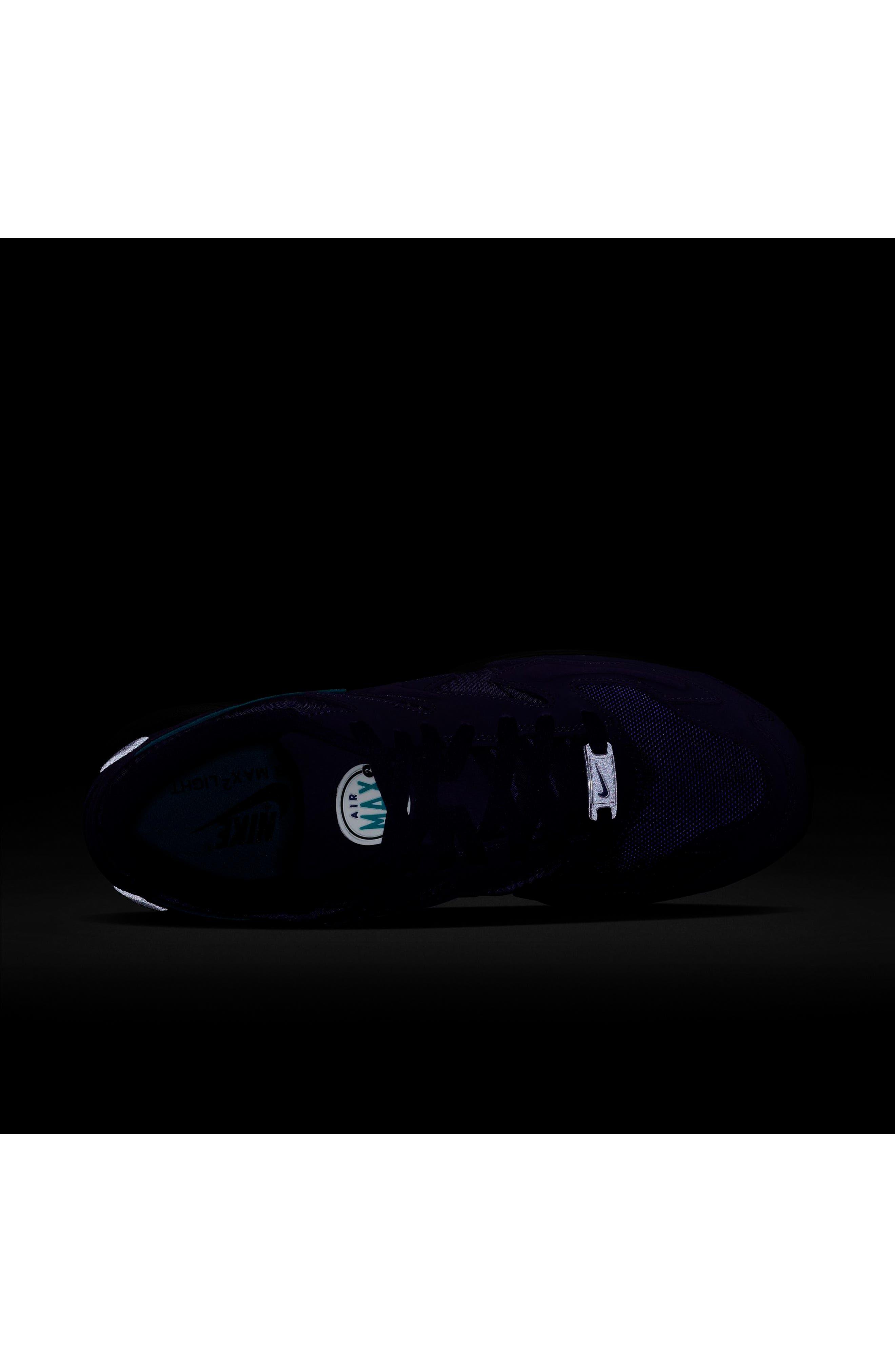 NIKE, Air Max2 Light Sneaker, Alternate thumbnail 6, color, PURPLE/ TEAL/ BLACK/ WHITE