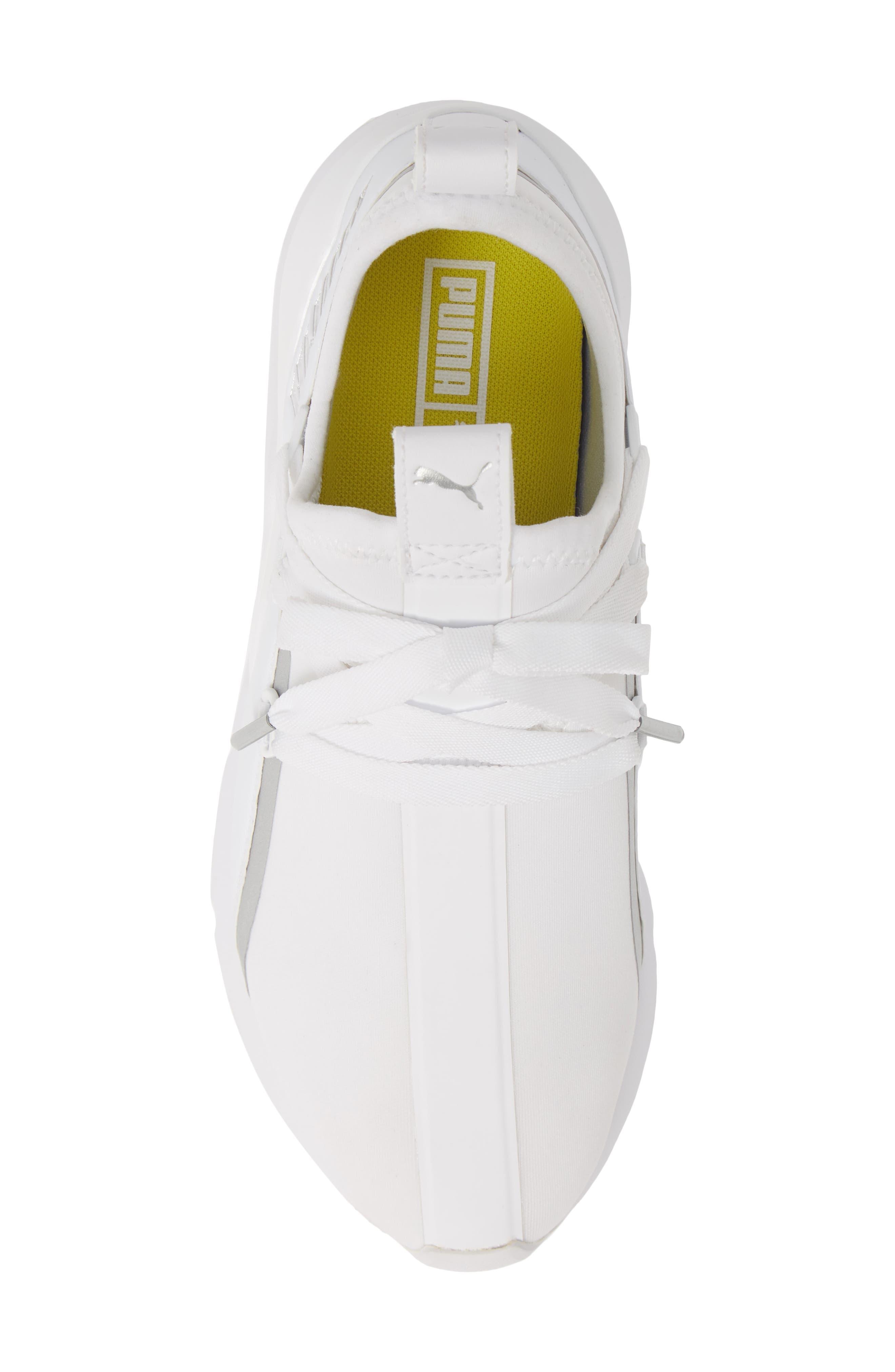 PUMA, Muse 2 Trailblazer Sneaker, Alternate thumbnail 5, color, WHITE/ SILVER