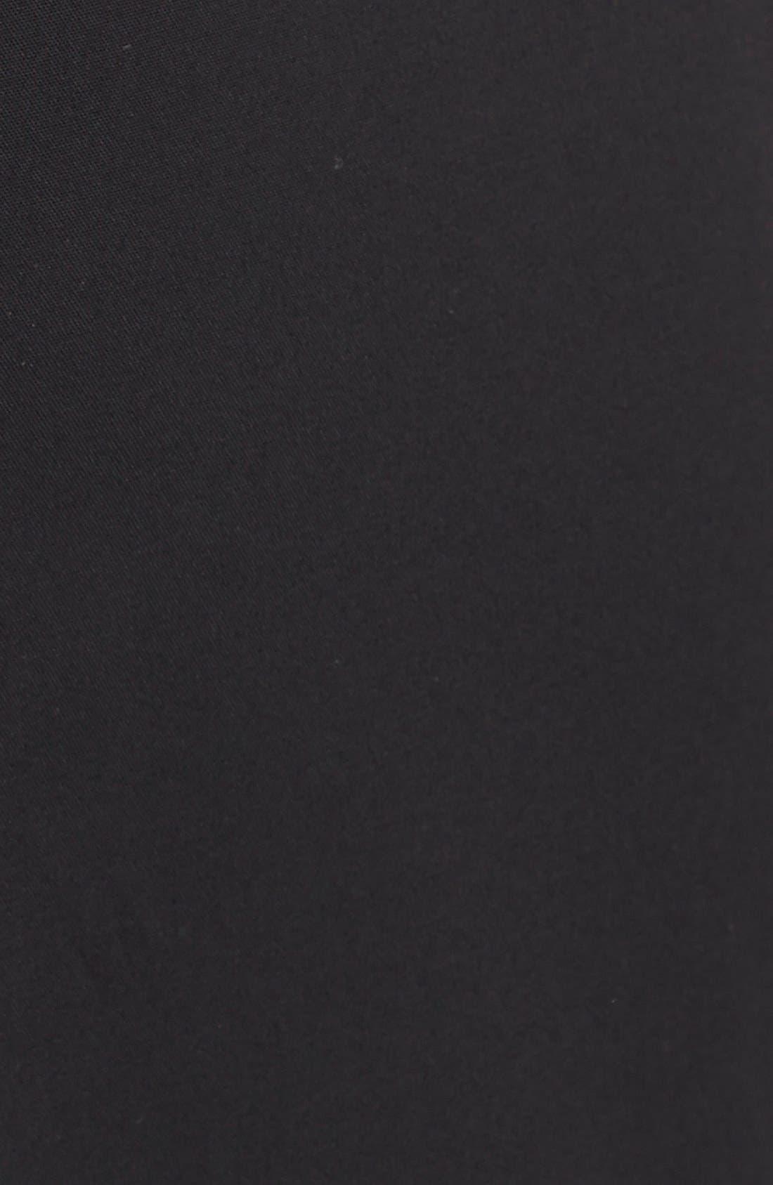 LAFAYETTE 148 NEW YORK, 'Kenmare' Flare Leg Pants, Alternate thumbnail 6, color, BLACK