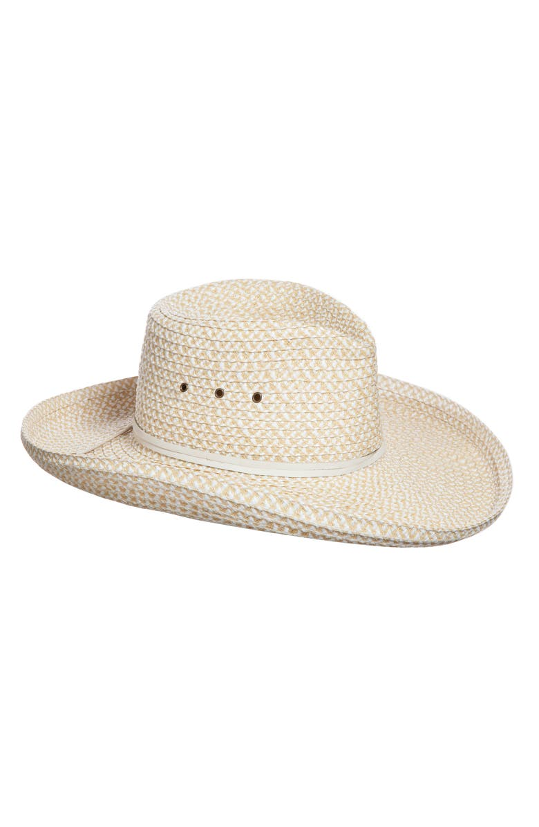 Eric Javits Hats SQUISHEE WESTERN HAT - WHITE