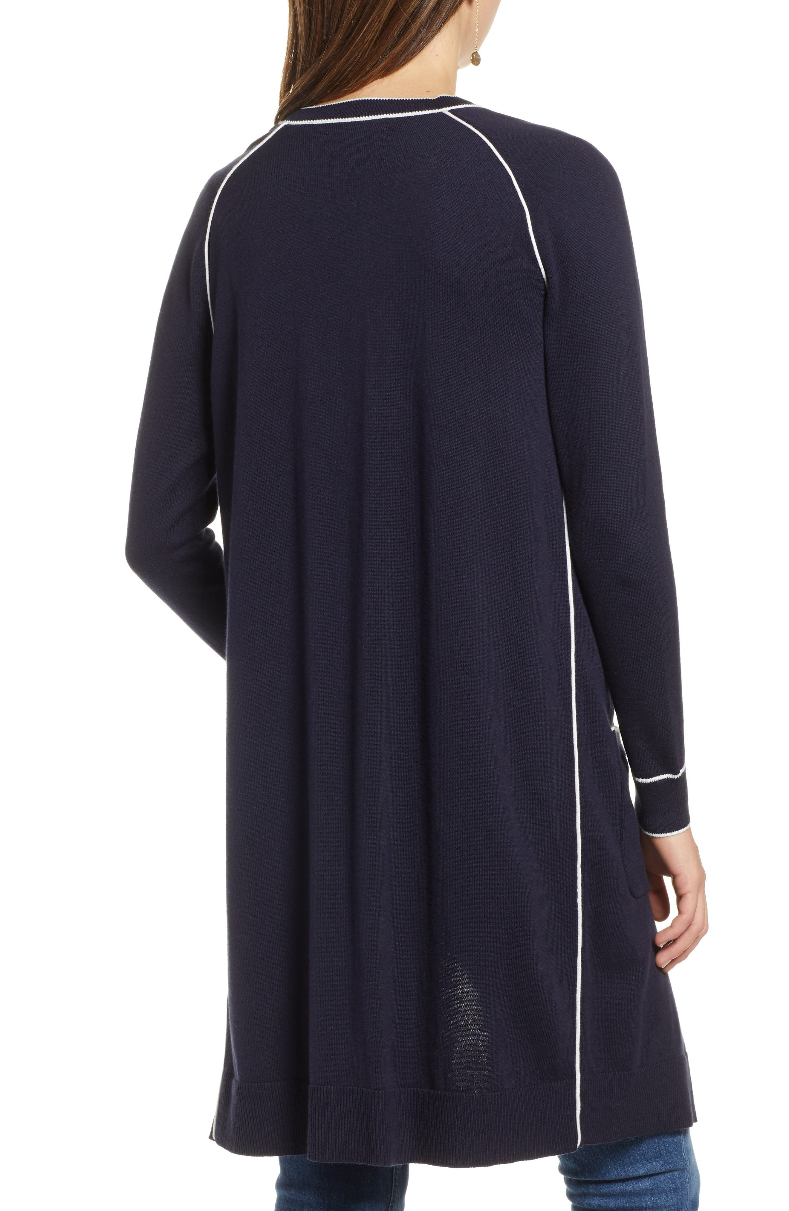 1901, Longline Cardigan, Alternate thumbnail 2, color, 410