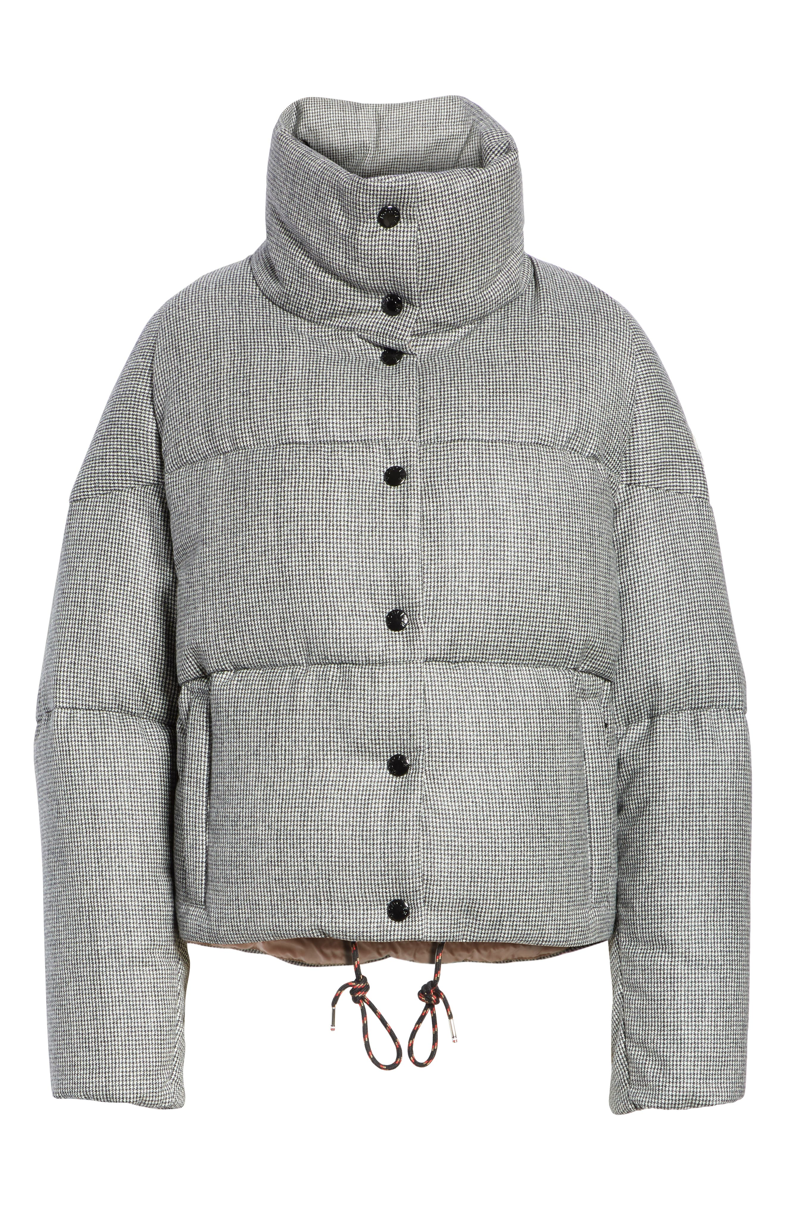 MONCLER, Cer Wool Down Puffer Jacket, Alternate thumbnail 5, color, 001
