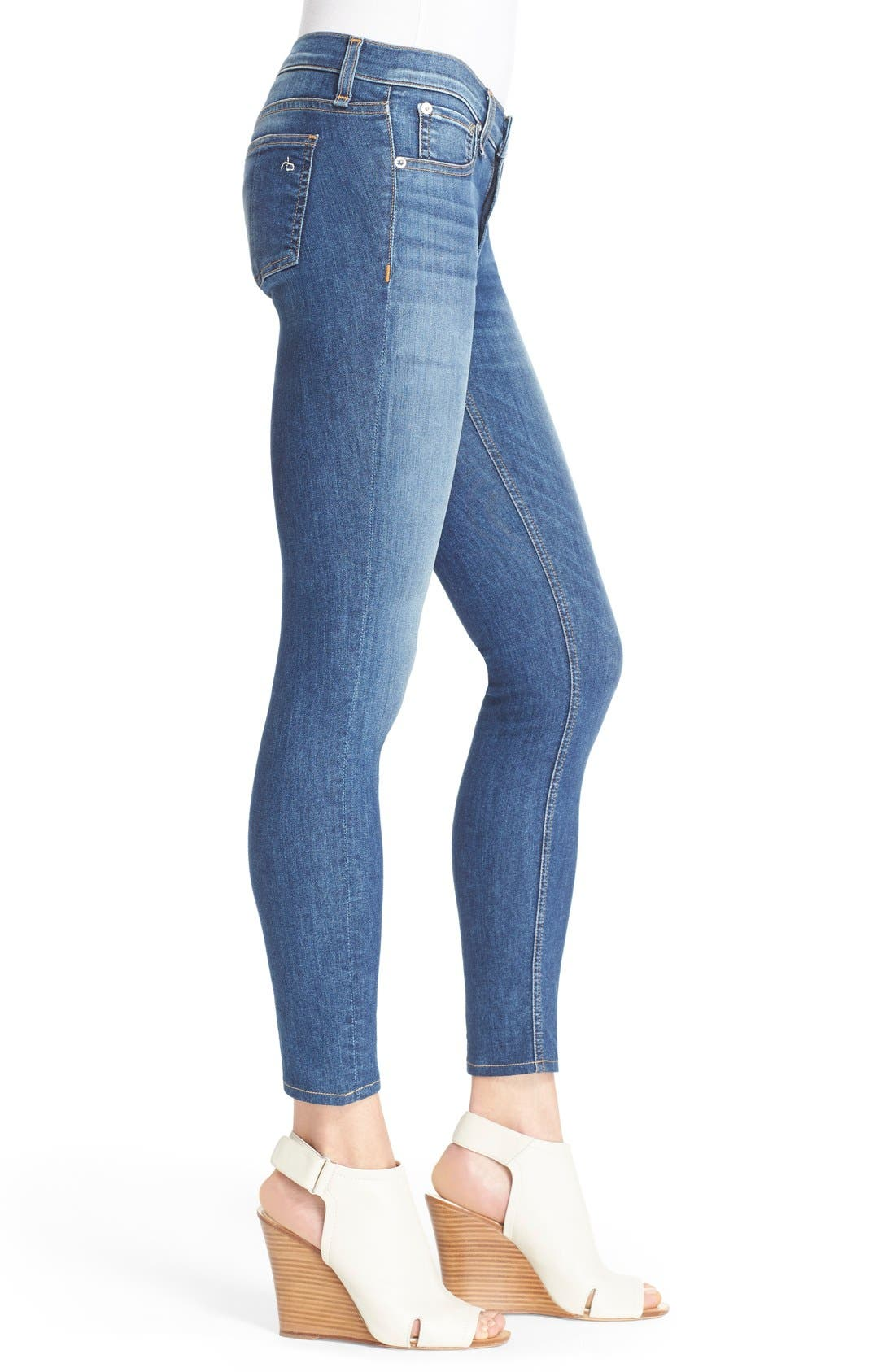 RAG & BONE, Capri Crop Skinny Jeans, Alternate thumbnail 7, color, RAE
