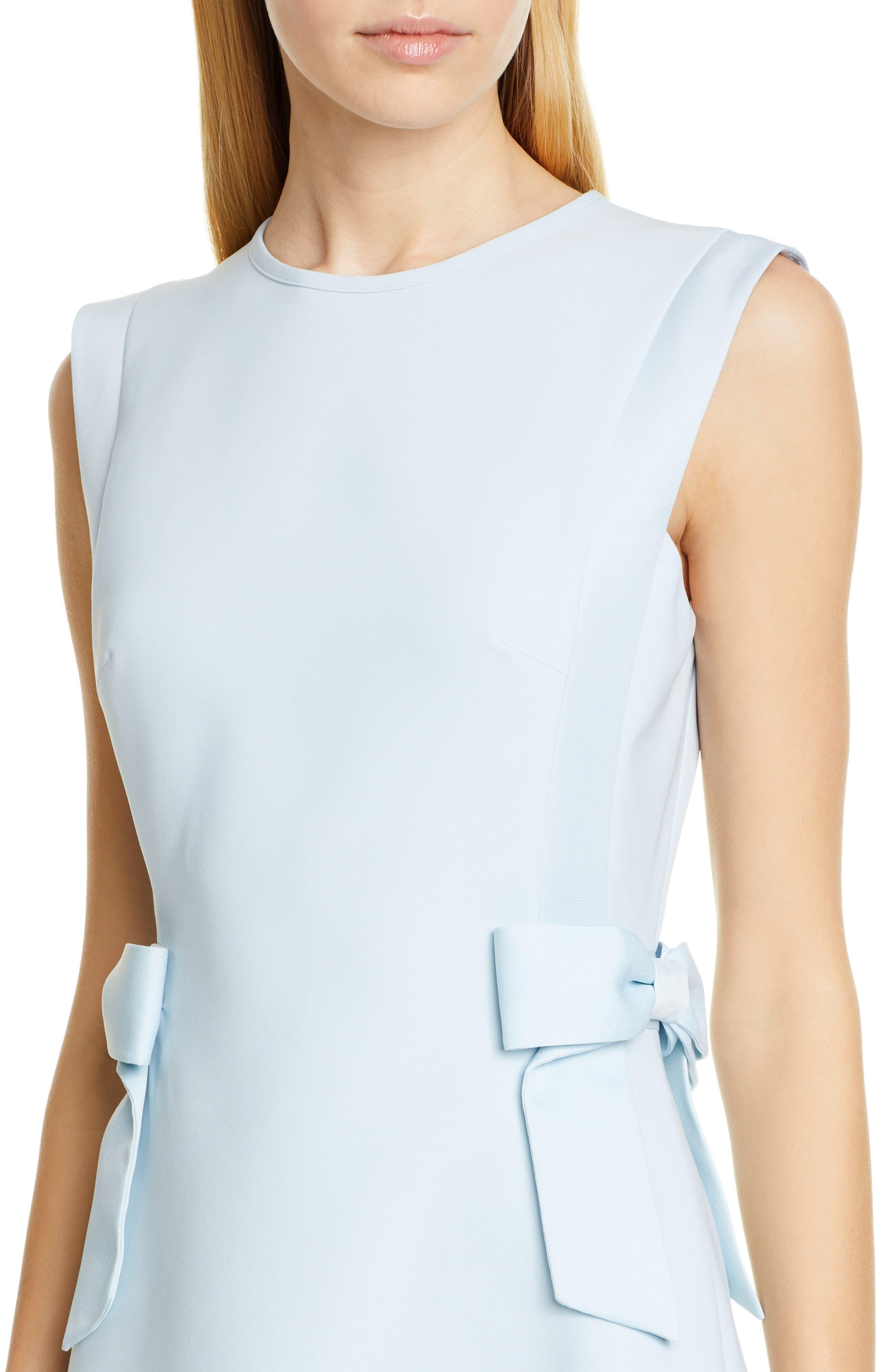 TED BAKER LONDON, Meline Side Bow Detail Dress, Alternate thumbnail 5, color, MINT