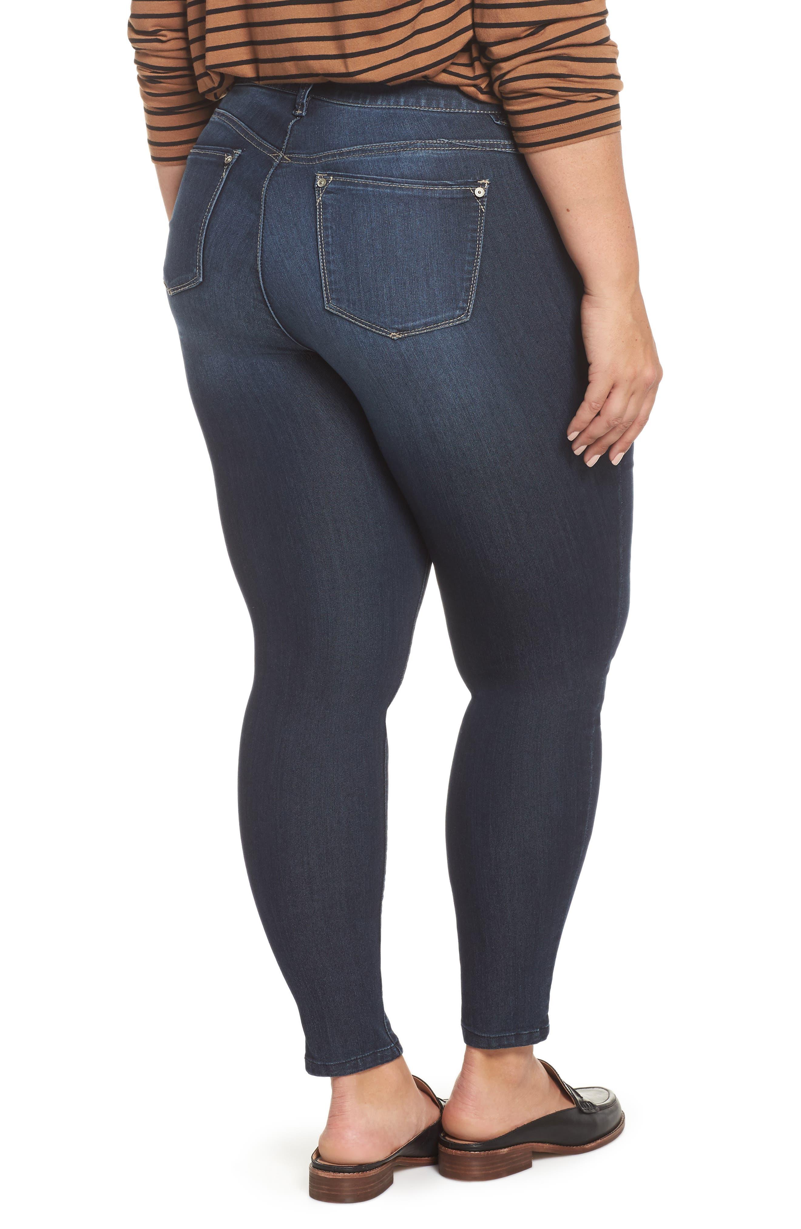 WIT & WISDOM, Ab-solution Stretch Skinny Jeans, Alternate thumbnail 2, color, INDIGO