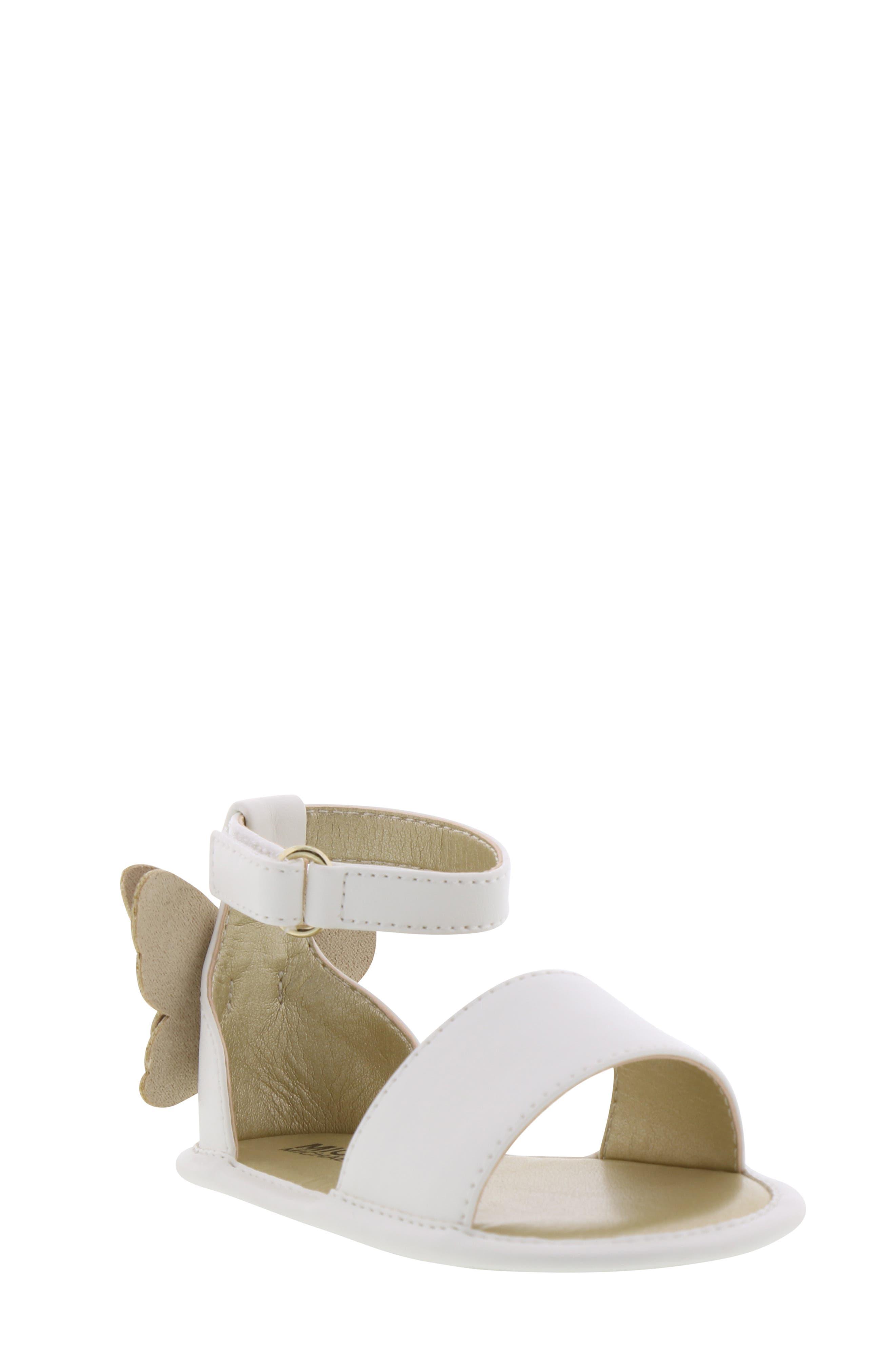 MICHAEL MICHAEL KORS Tilly Sansa Glitter Sandal, Main, color, WHITE