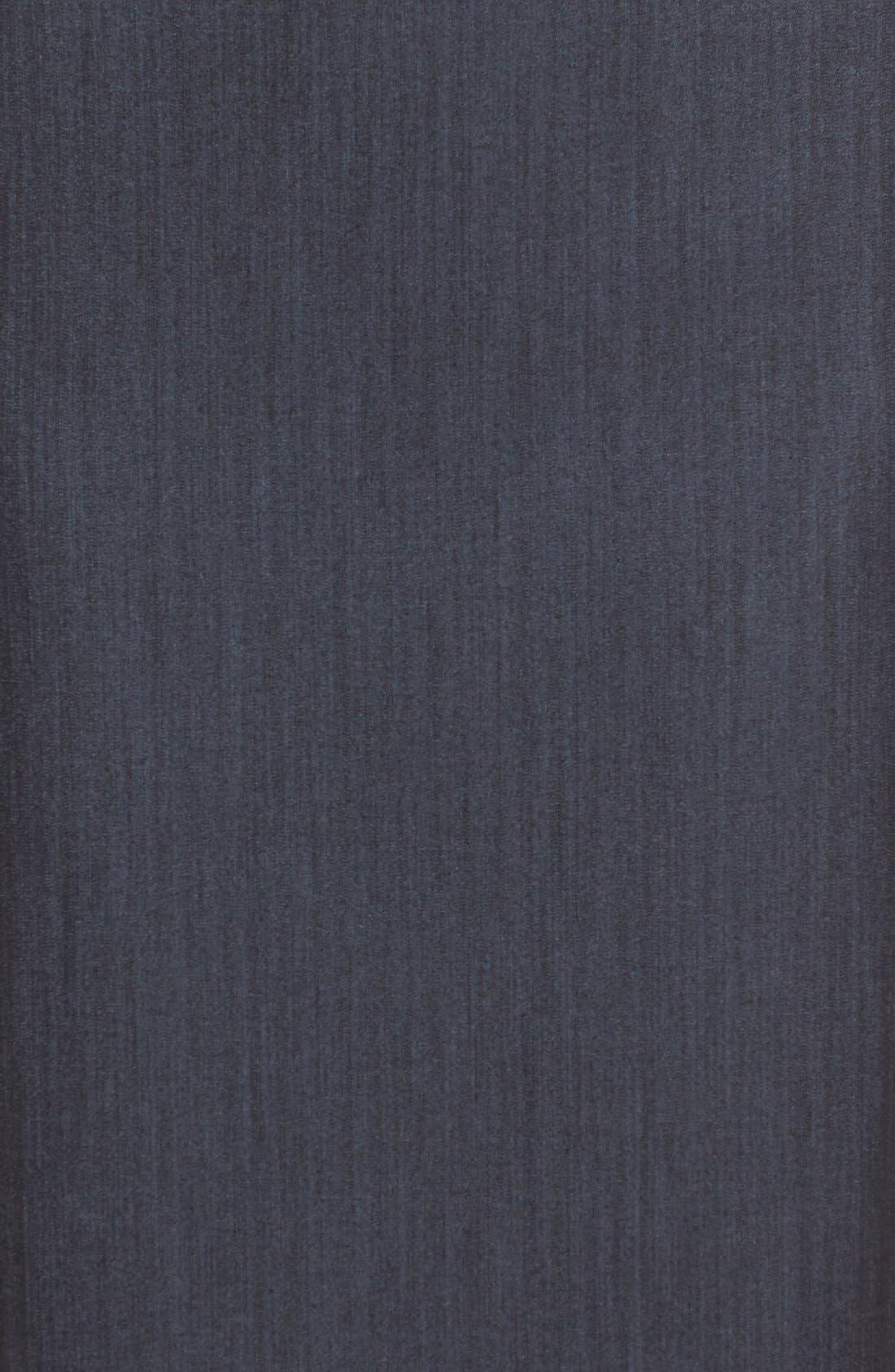 ANNE KLEIN, Stretch Woven Suit Skirt, Alternate thumbnail 6, color, INDIGO TWILL