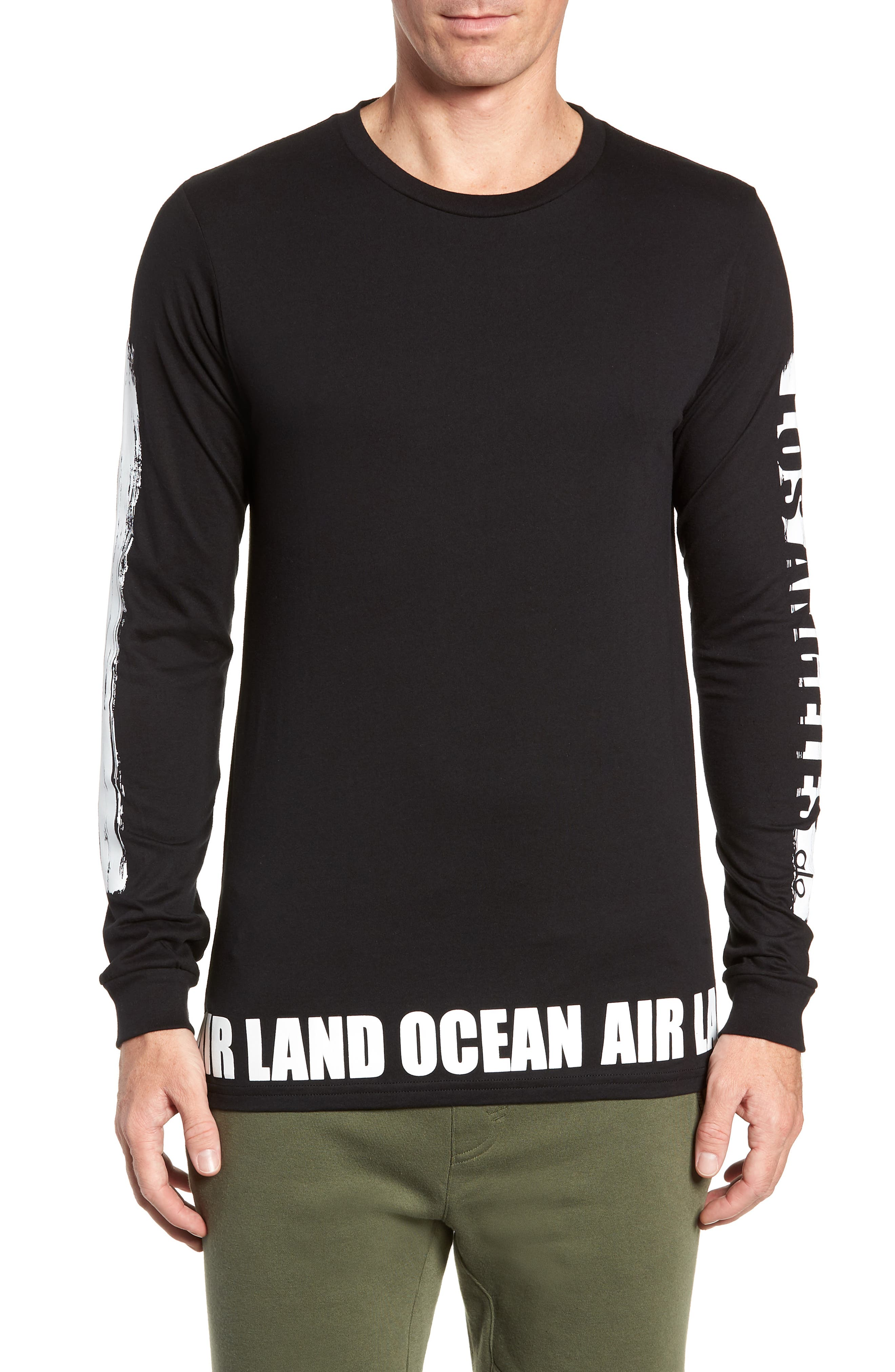 ALO, Fairfax Long Sleeve T-Shirt, Main thumbnail 1, color, LOS ANGELES
