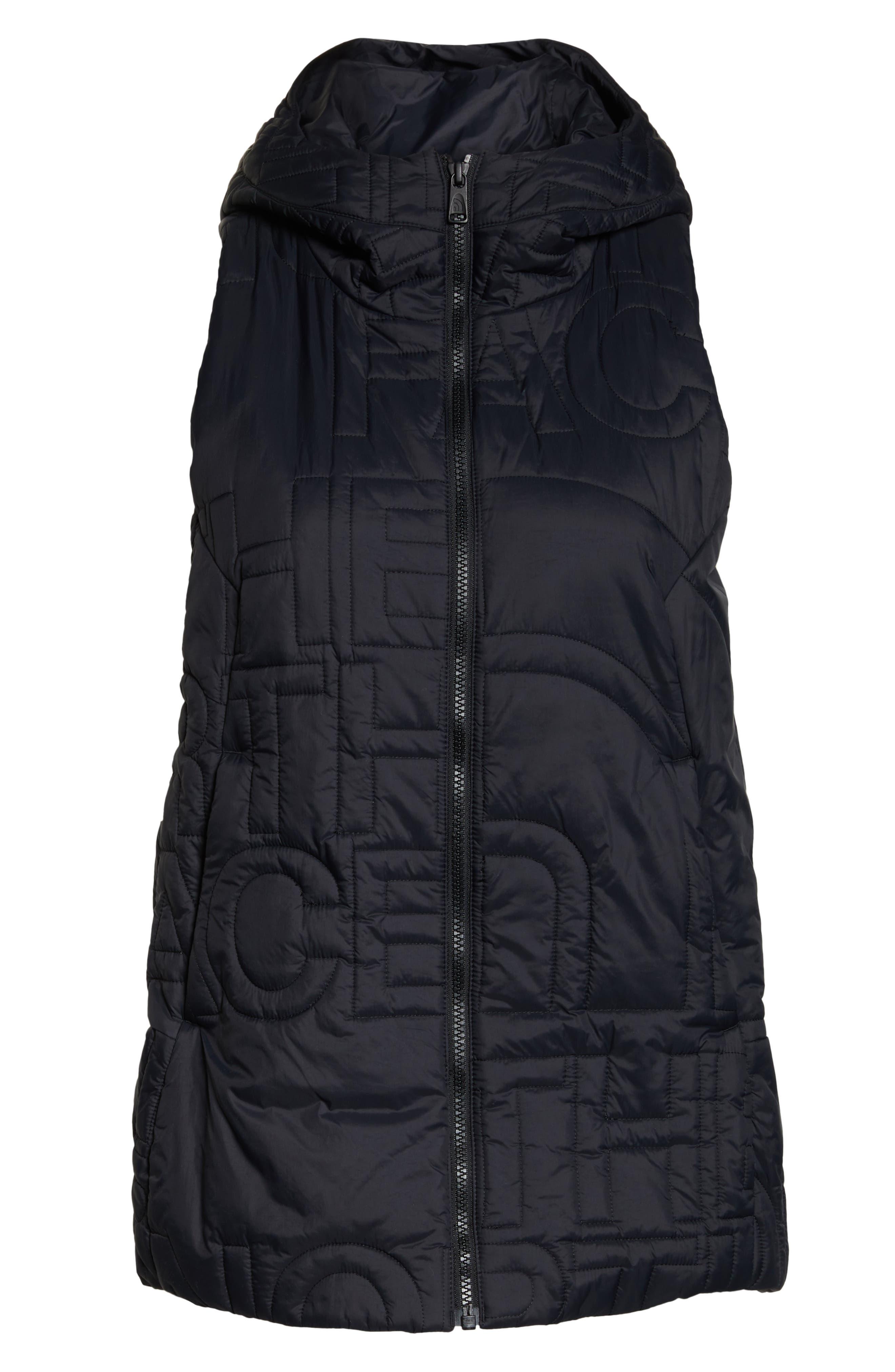 THE NORTH FACE, Alphabet City Water Resistant Heatseeker<sup>™</sup> Vest, Alternate thumbnail 6, color, TNF BLACK/ TNF BLACK