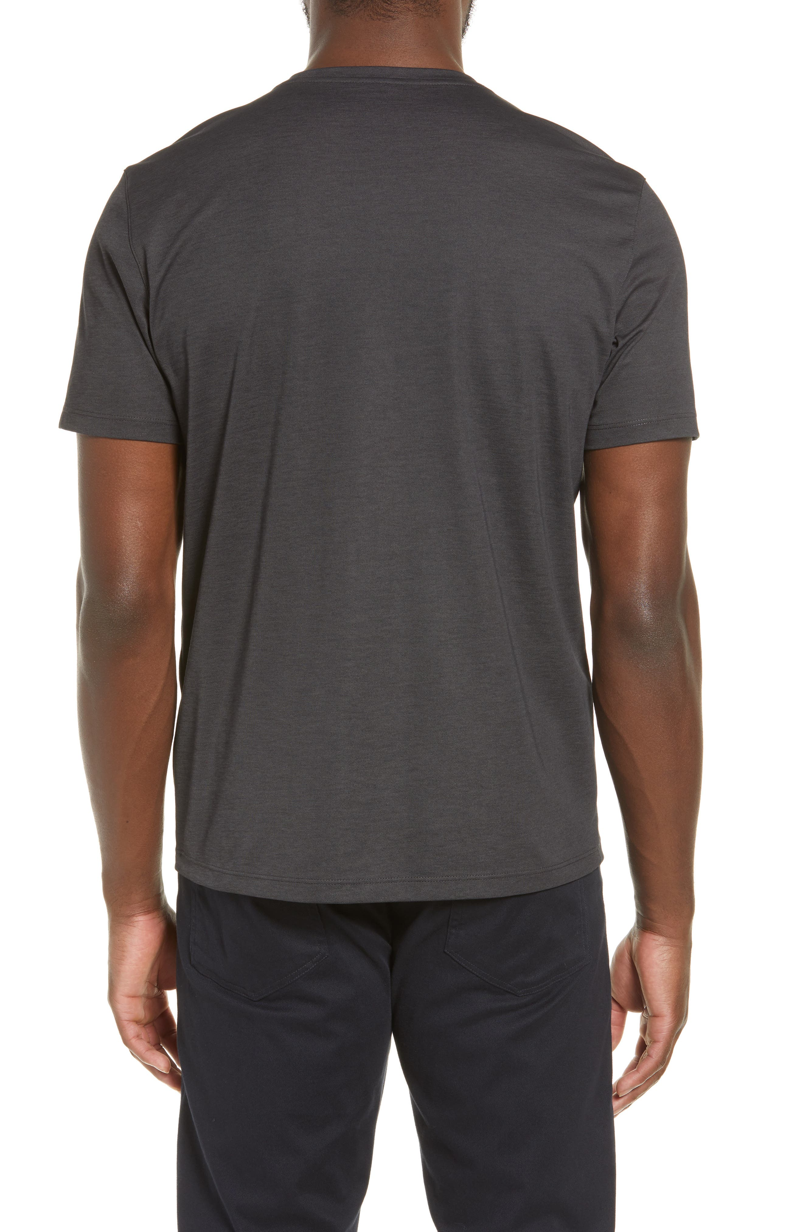 ZACHARY PRELL, Brookville Regular Fit Piqué T-Shirt, Alternate thumbnail 2, color, BLACK
