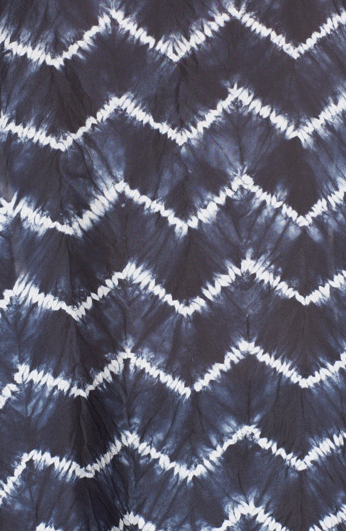 ESKANDAR, Chevron Shibori Silk Tunic, Alternate thumbnail 3, color, 411