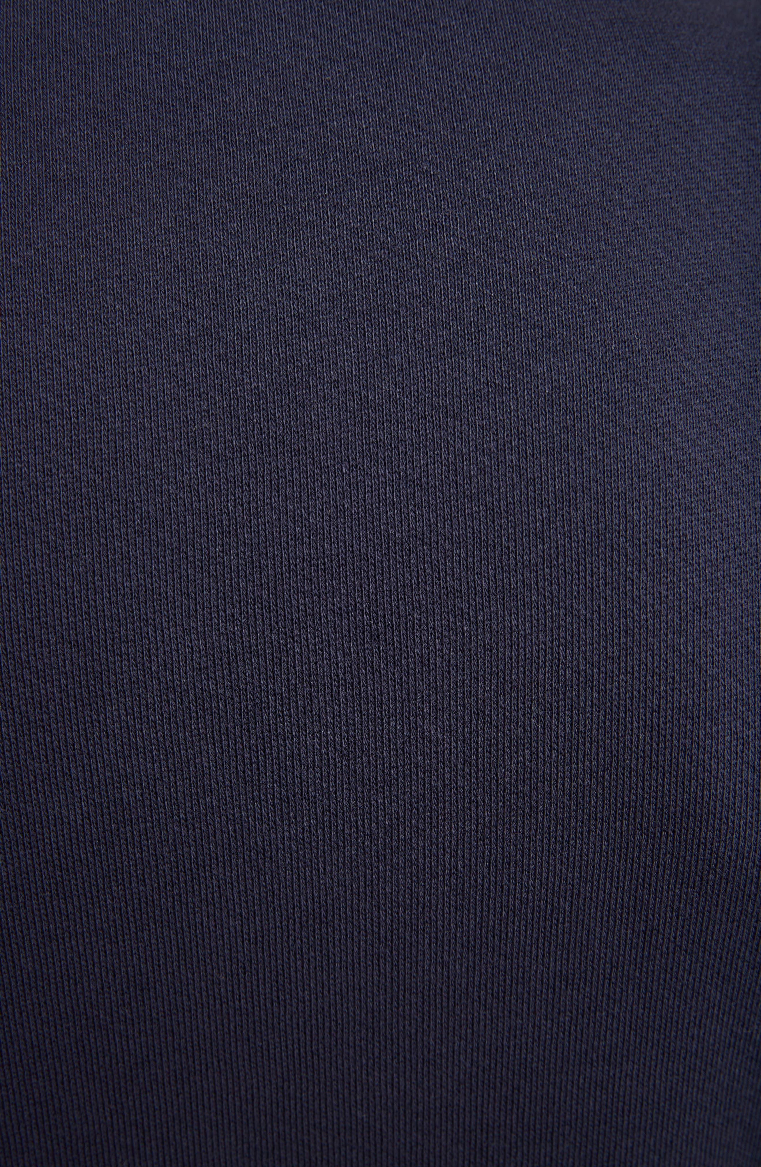 LOEWE, Anagram Sweatshirt, Alternate thumbnail 5, color, 5387-NAVY BLUE/ MULTICOLOR