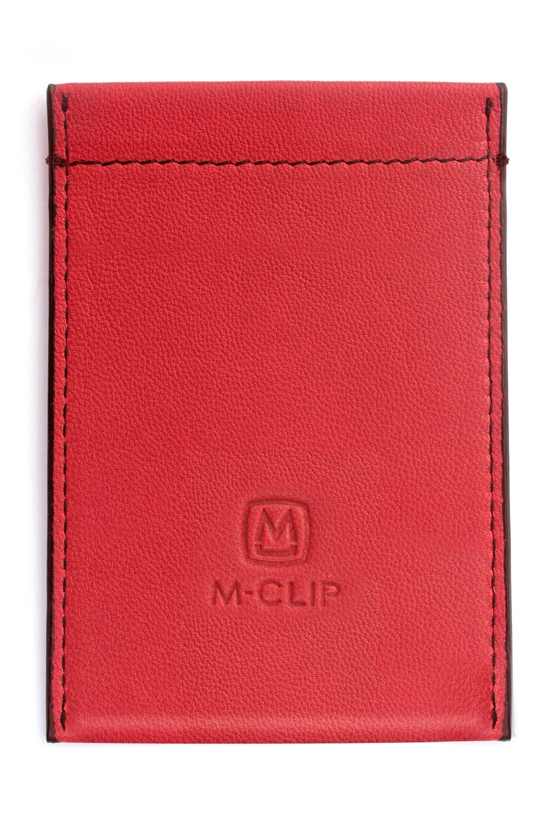 M-CLIP<SUP>®</SUP> RFID Card Case, Main, color, RED