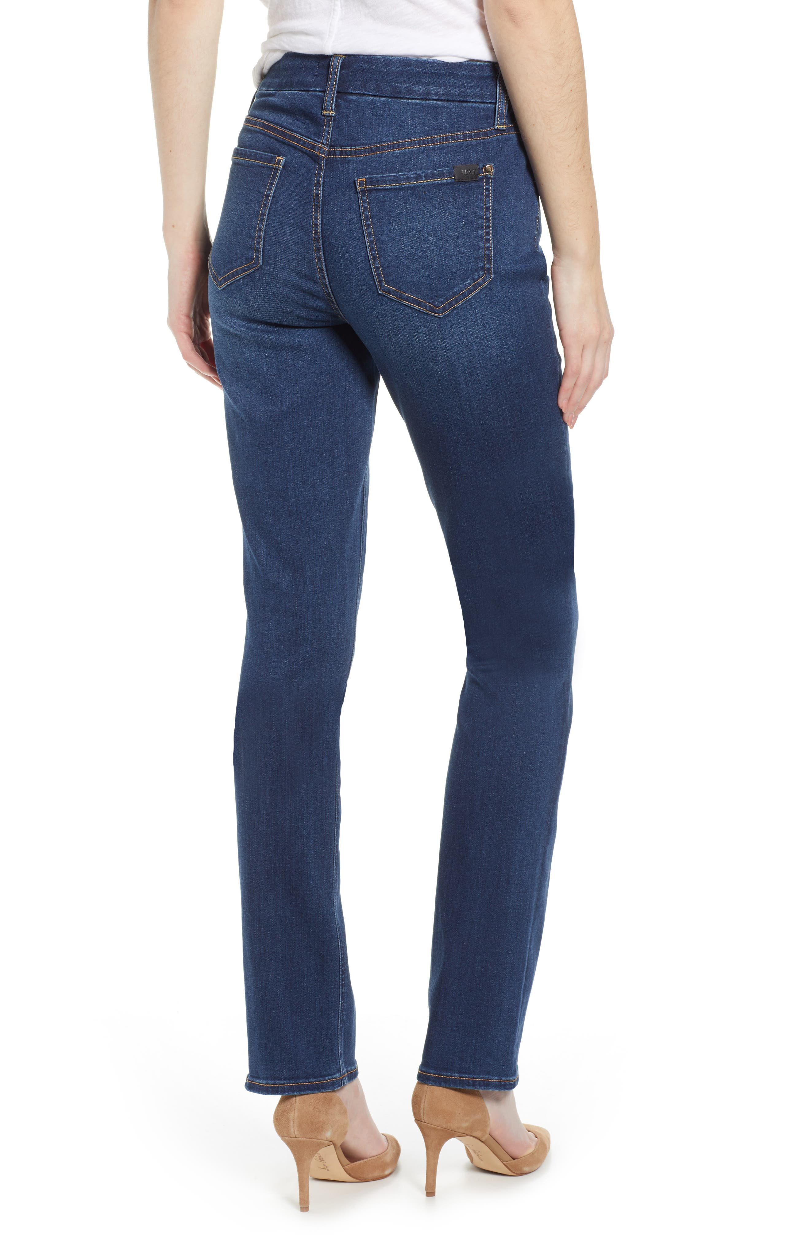 JEN7 BY 7 FOR ALL MANKIND, Slim Straight Leg Jeans, Alternate thumbnail 2, color, 404