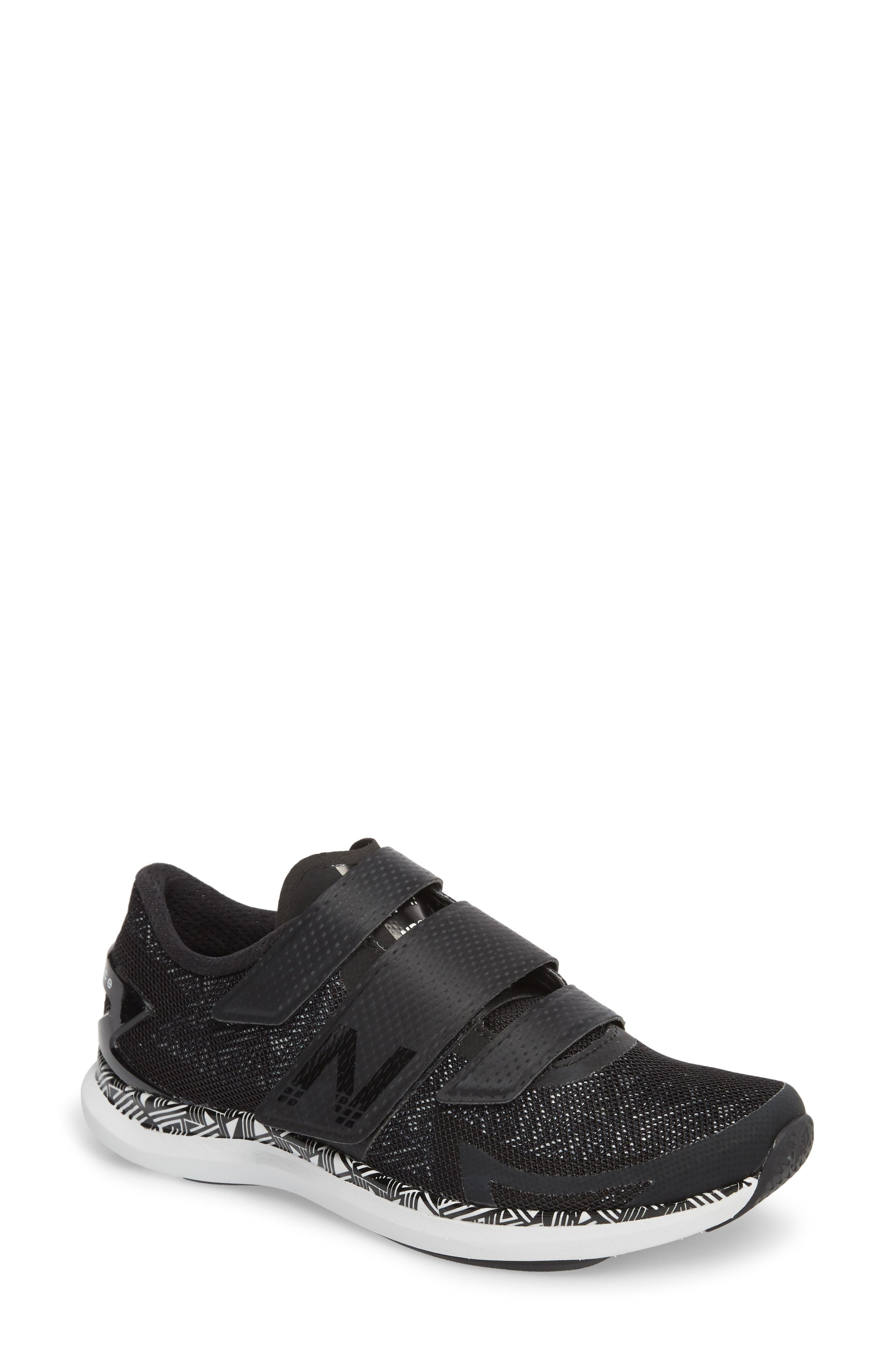 NEW BALANCE Spin 09 Cycling Shoe, Main, color, BLACK/ WHITE